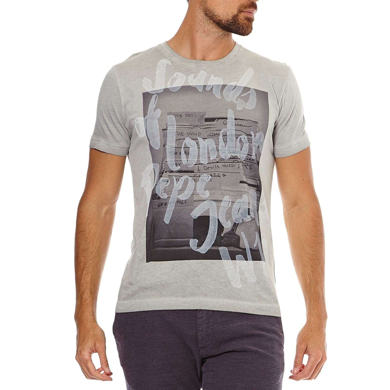 Pepe Jeans London Morden - T-shirt manches courtes - gris