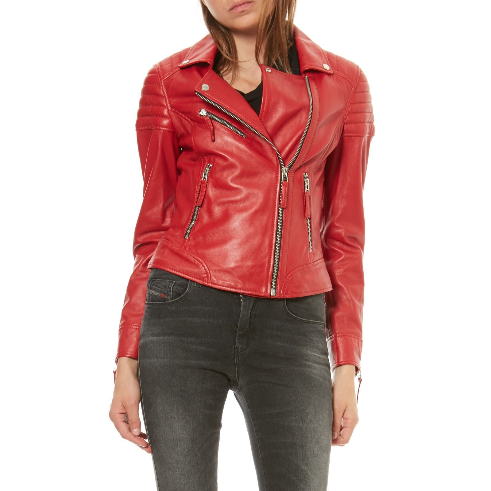 Oakwood Salome - Veste en cuir de mouton - rouge   BrandAlley ca582eb9a175