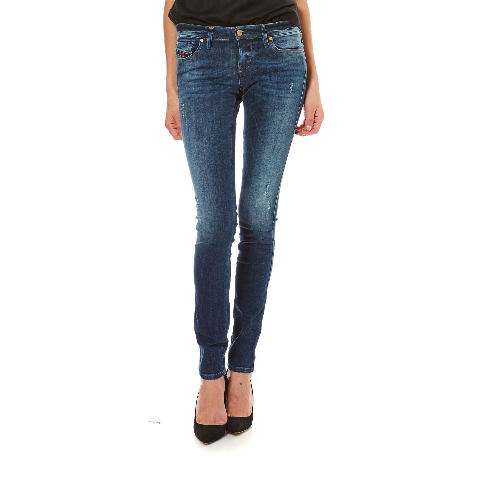 Diesel Skinzee low - Jean slim - denim bleu
