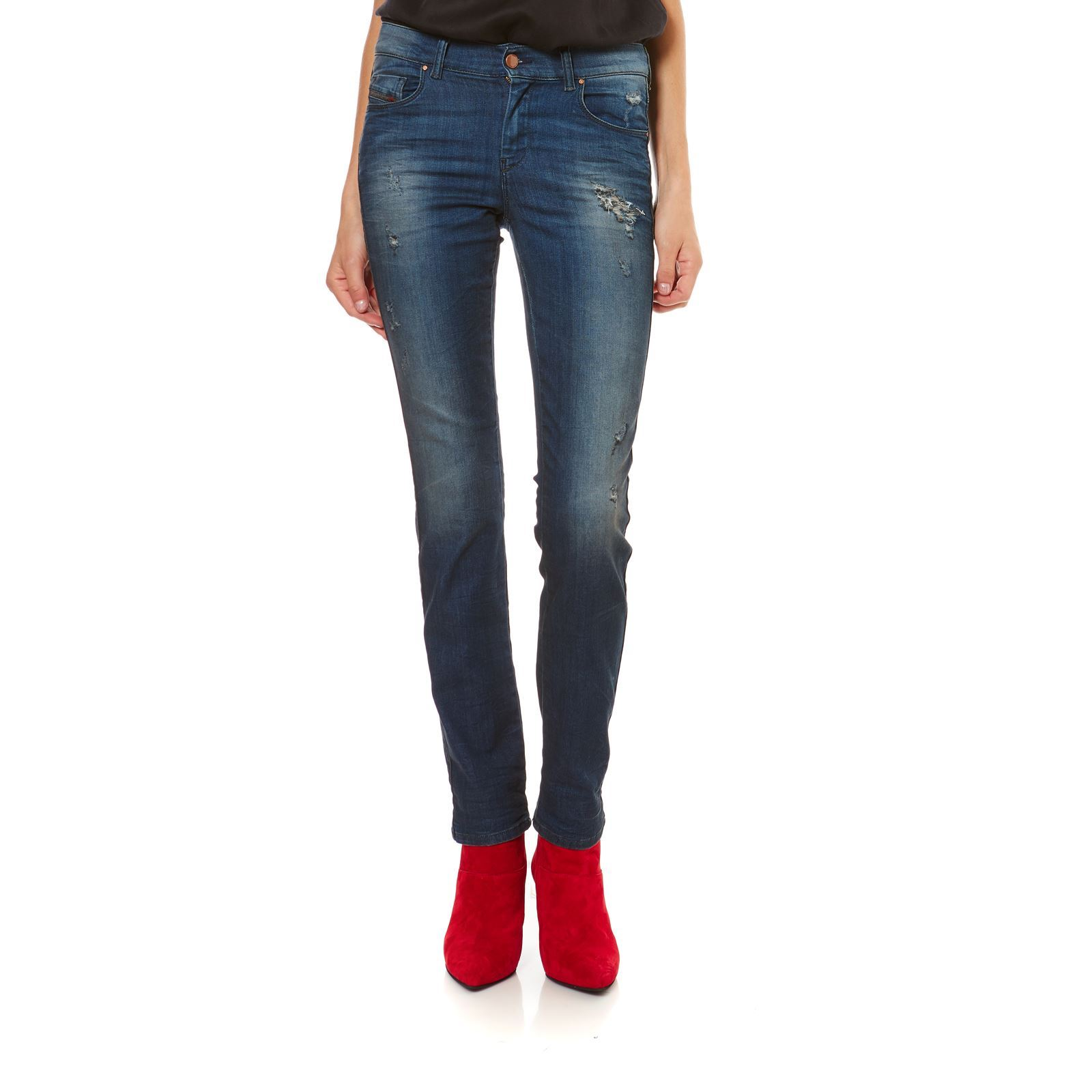 Diesel Sandy - Jean regular - denim bleu