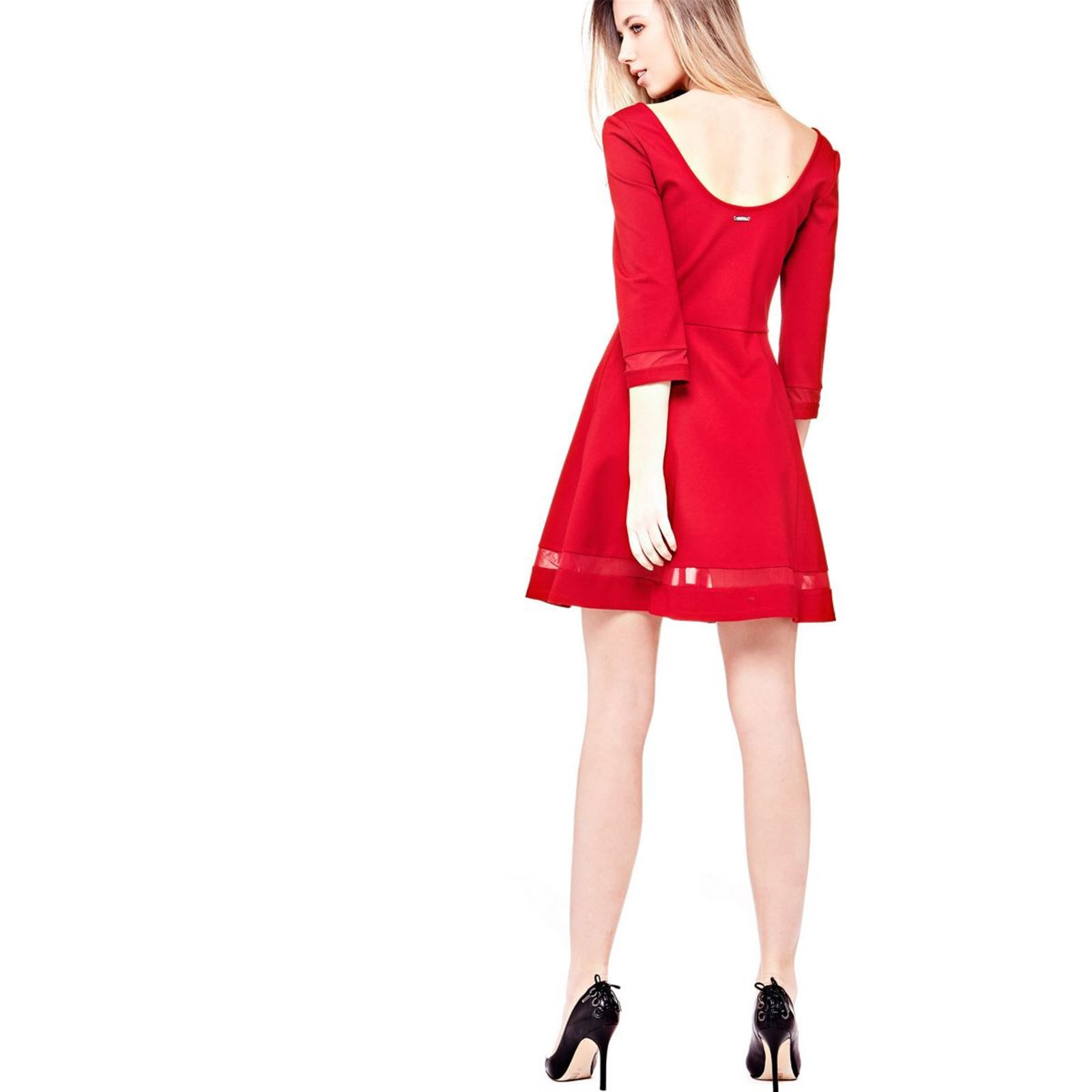 guess robe jupe patineuse rouge brandalley. Black Bedroom Furniture Sets. Home Design Ideas