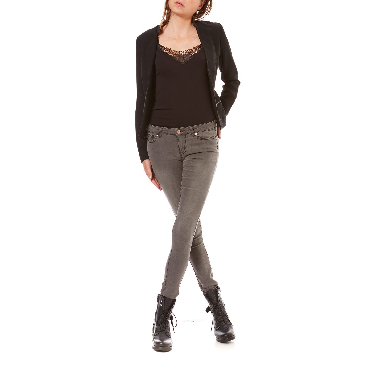 Skinny Gris May Noisy Jean Eve BwpCqyT