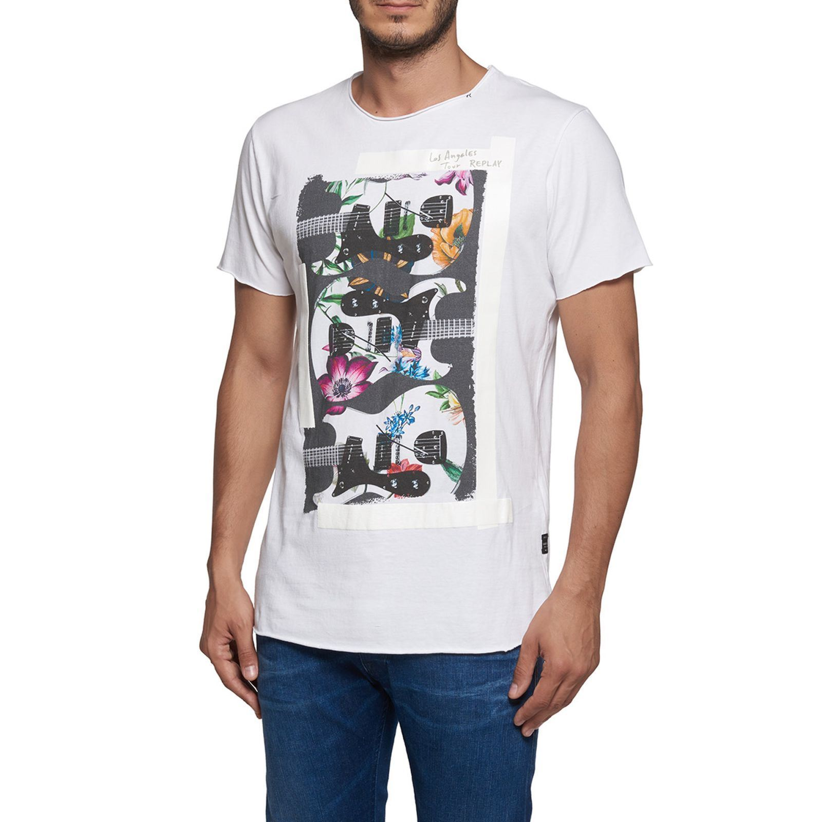 Replay T-shirt manches courtes - blanc