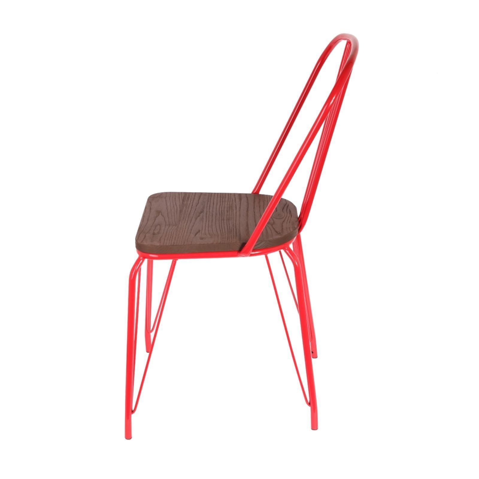 The home deco factory chaise rouge brandalley for Chaise factory rouge