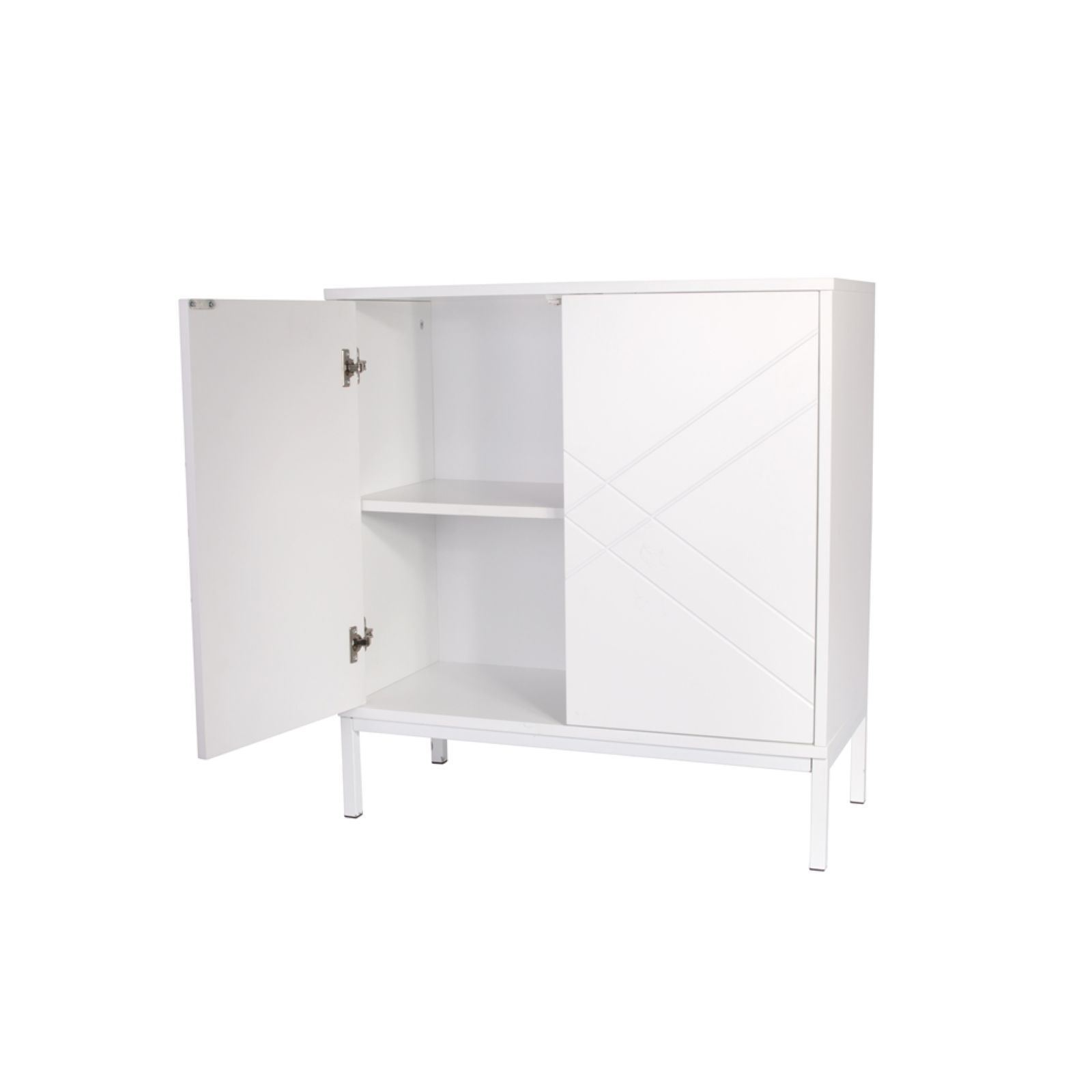 the home deco factory commode 2 portes blanc brandalley. Black Bedroom Furniture Sets. Home Design Ideas