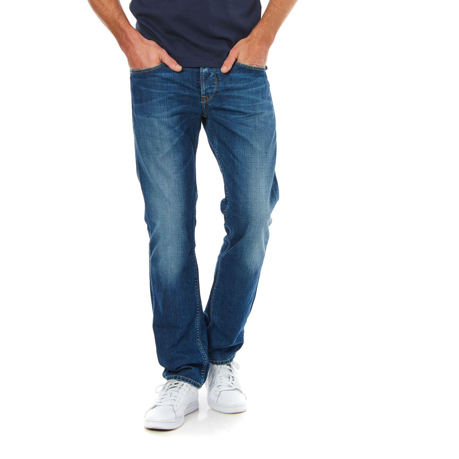 London Heston  Droit  Denim Bleu