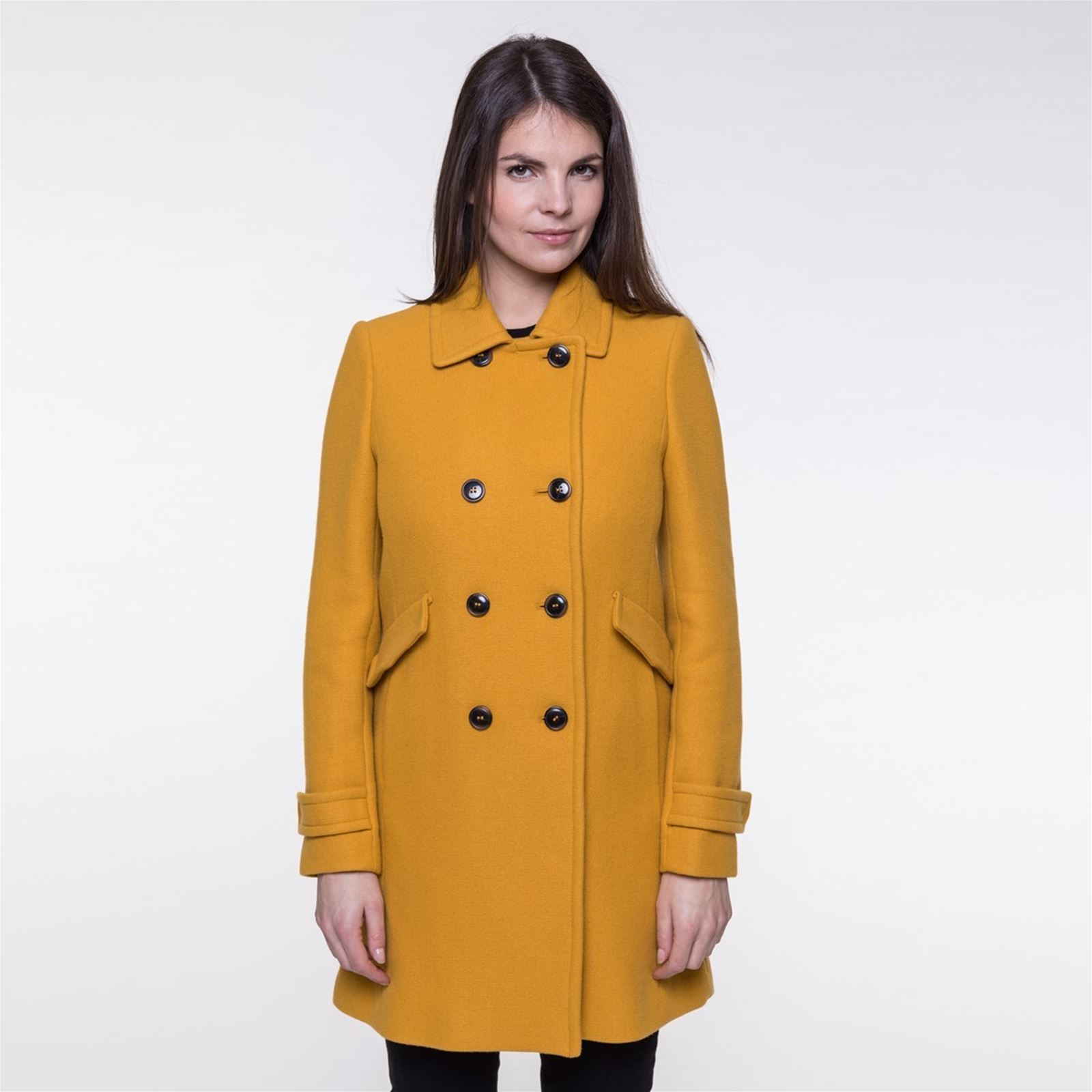 coat laine Trench en jaune Manteau mélangée BrandAlley and Tqwwva5A 48fef2d4fd8a