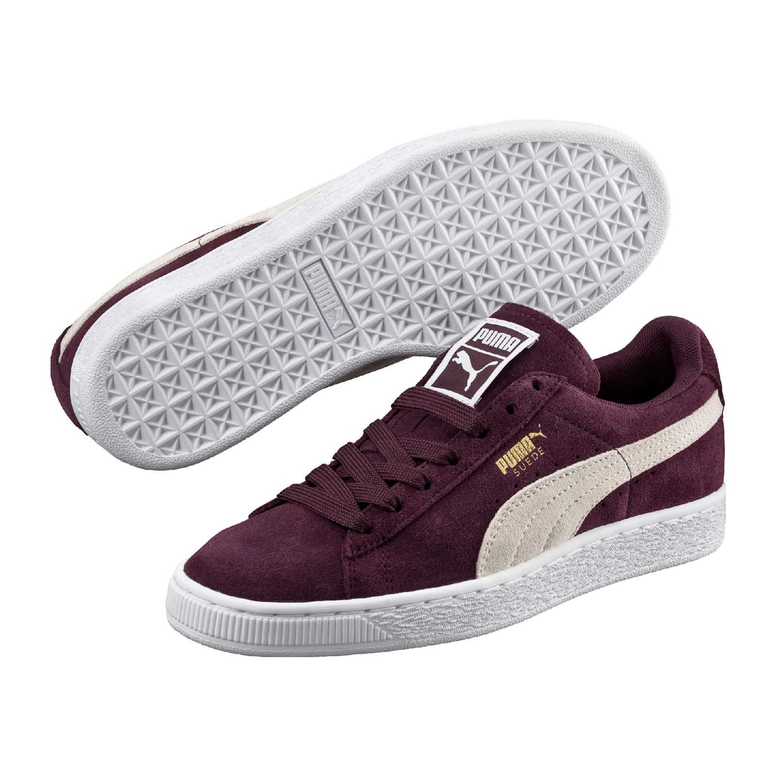 puma baskets en cuir bordeaux brandalley. Black Bedroom Furniture Sets. Home Design Ideas