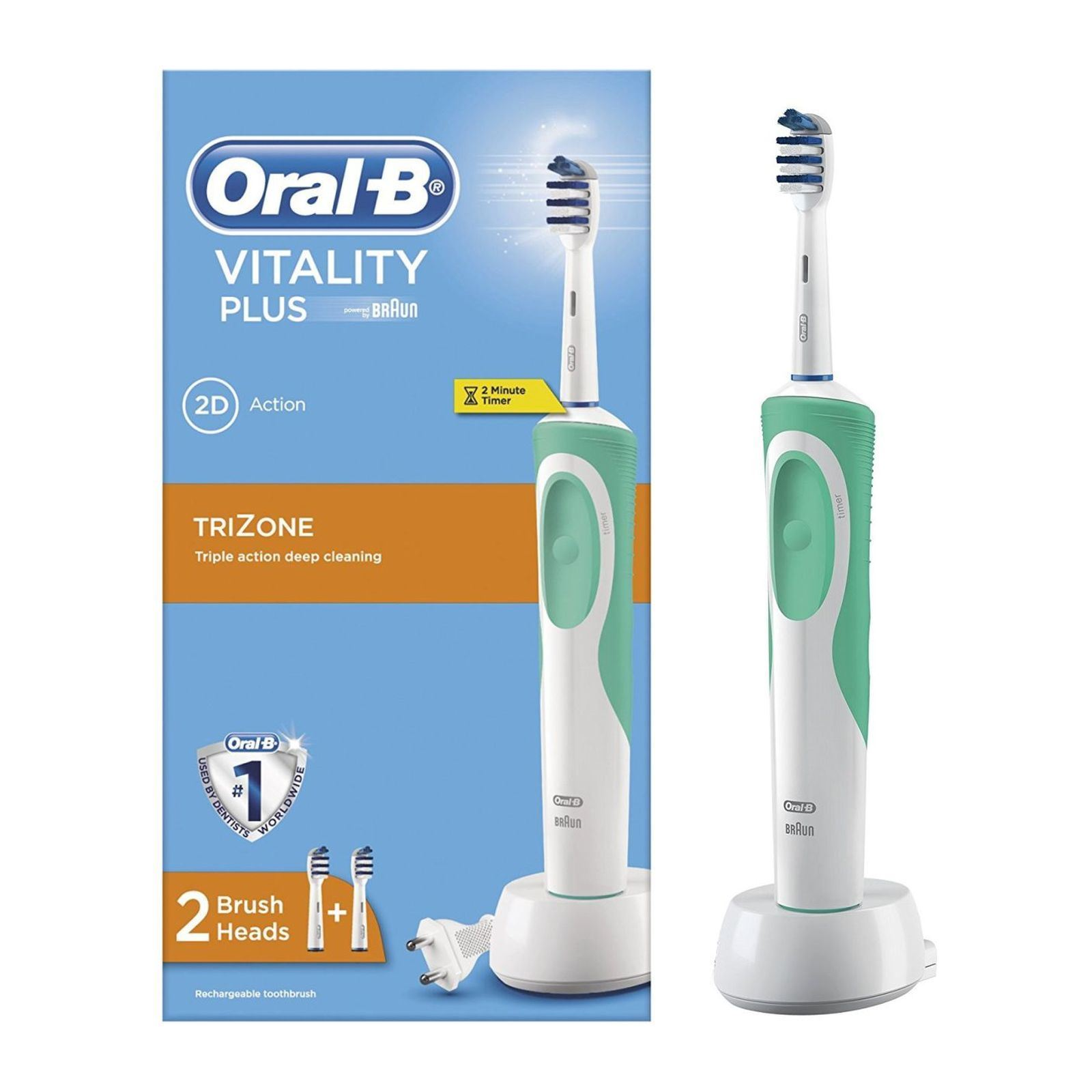 oral b duo pack vitality trizone e dual clean 8 testine 2 dentifrici brandalley. Black Bedroom Furniture Sets. Home Design Ideas