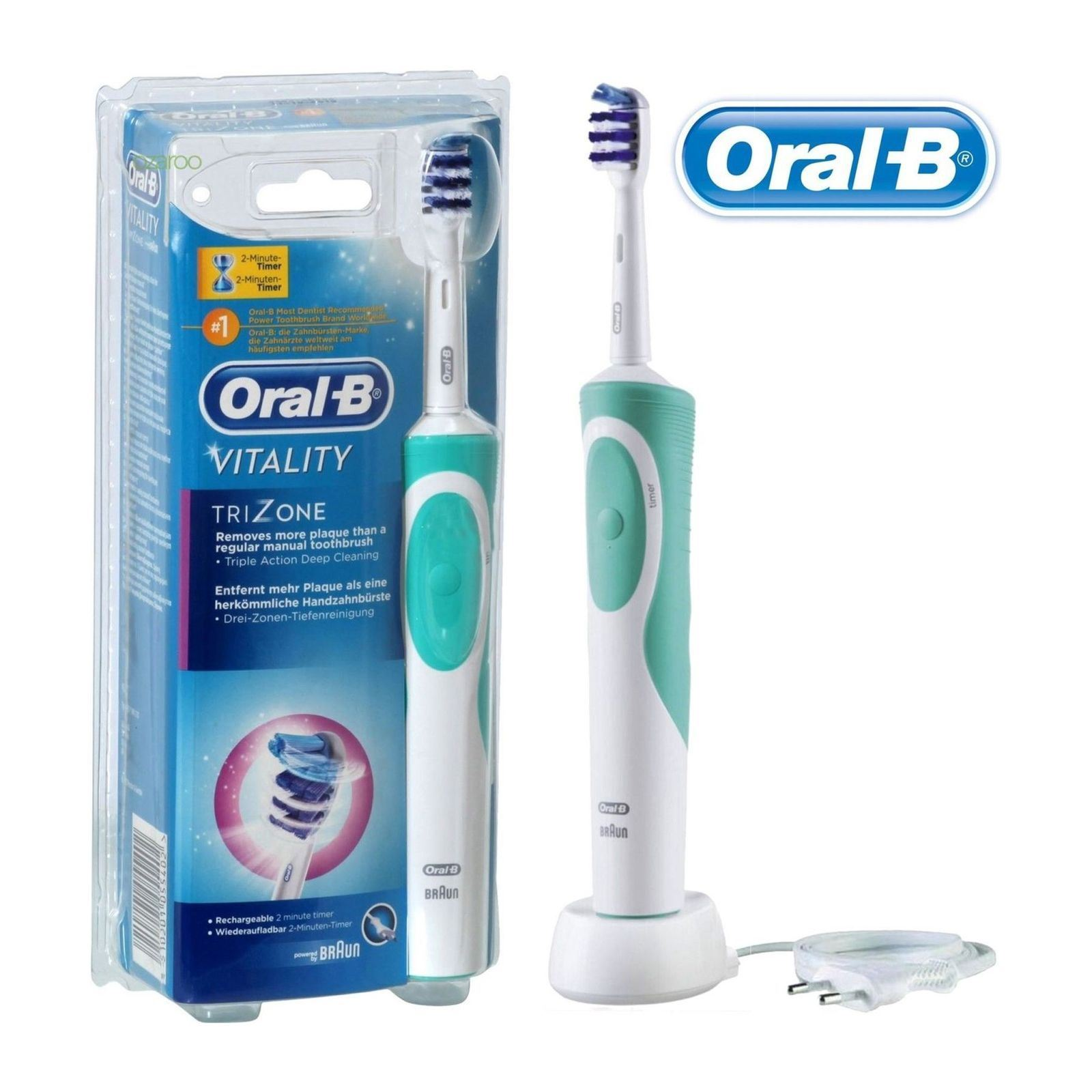 oral b pack vitality trizone 1 spazzolino elettrico 12 ricariche 1 dentifricio brandalley. Black Bedroom Furniture Sets. Home Design Ideas