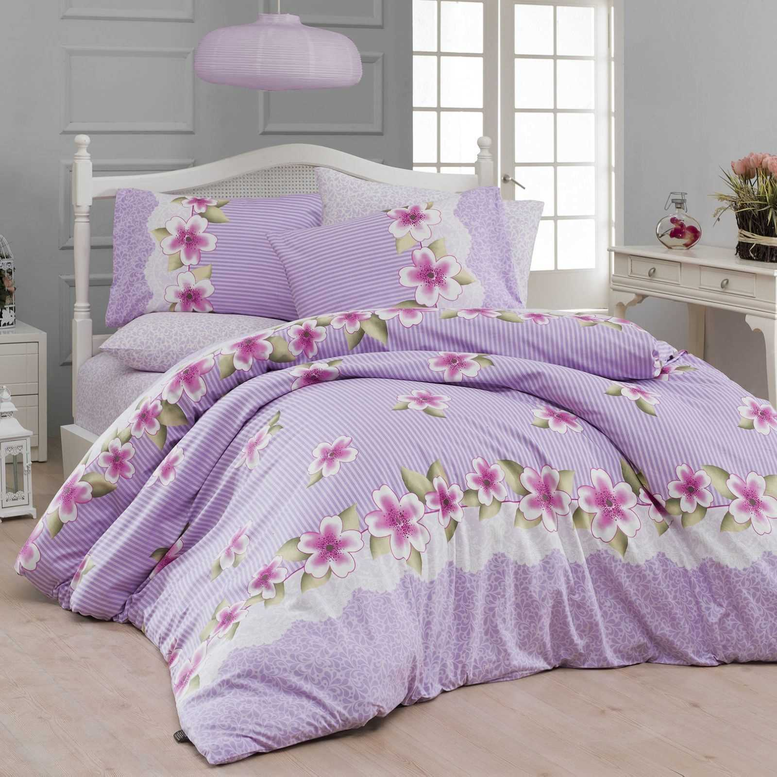 nazenin parure de lit mauve brandalley. Black Bedroom Furniture Sets. Home Design Ideas