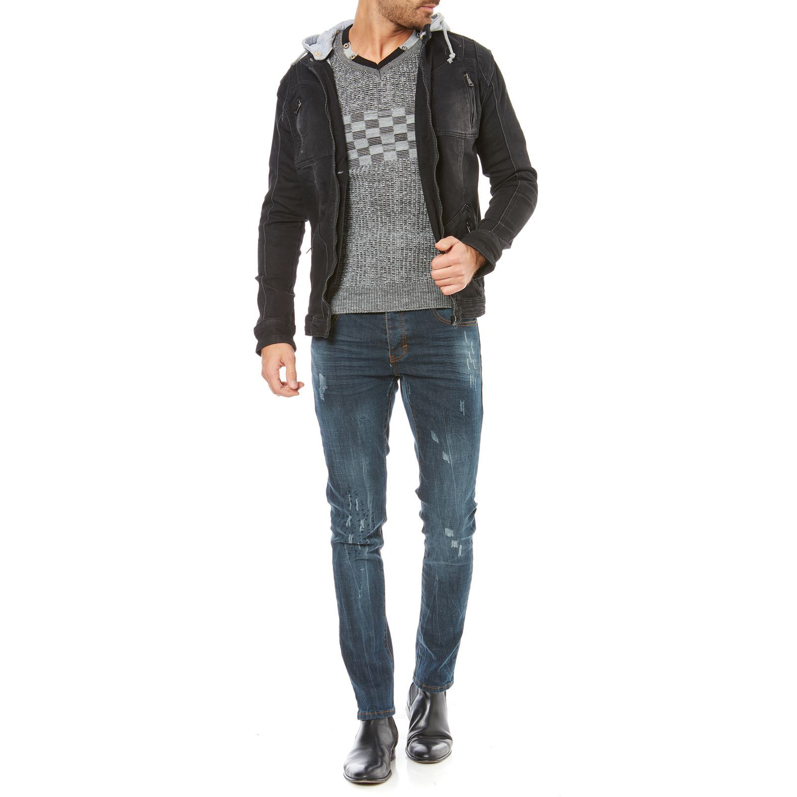 Hite couture jeansjacke schwarz brandalley for Hite couture