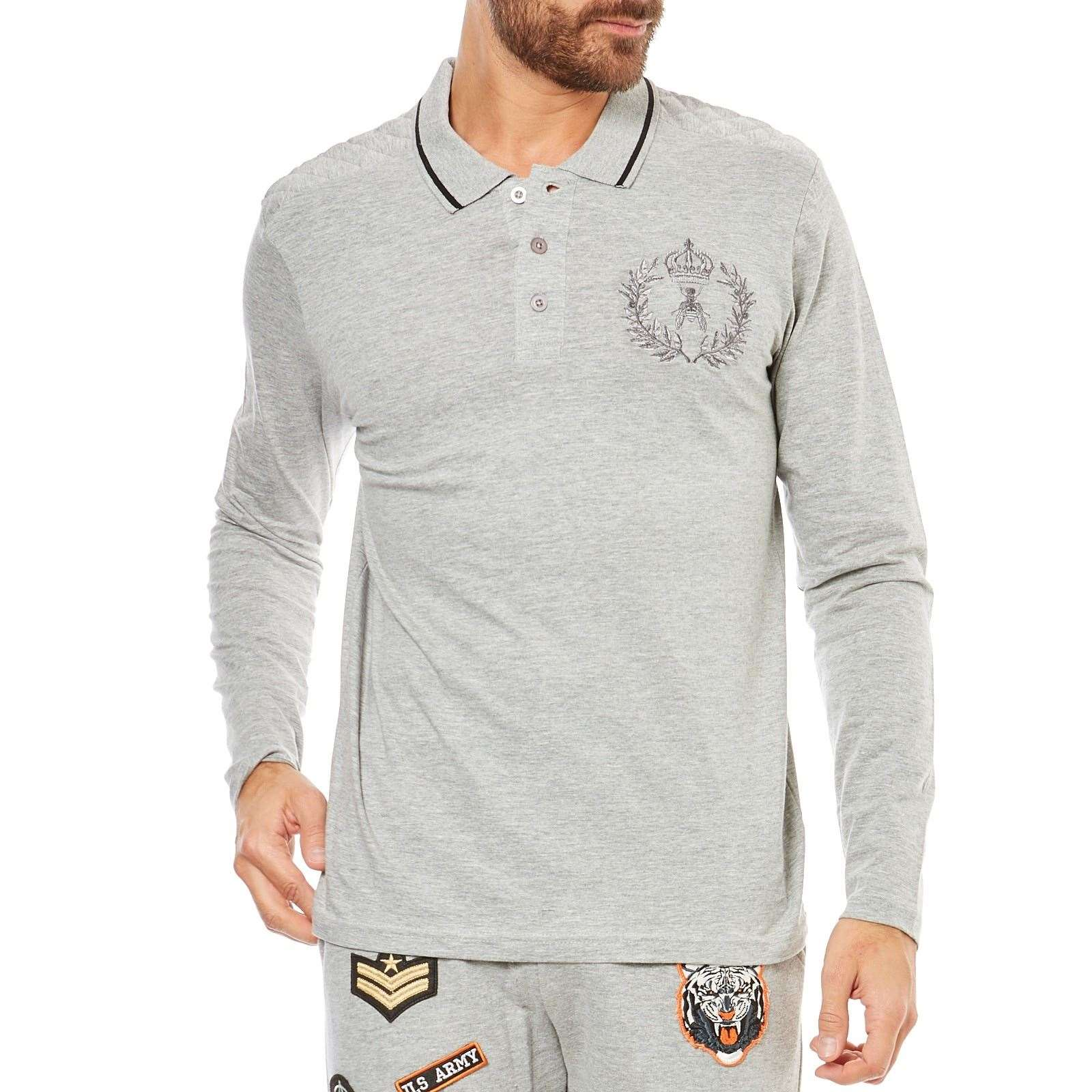 Hite couture polo manches longues gris brandalley for Hite couture
