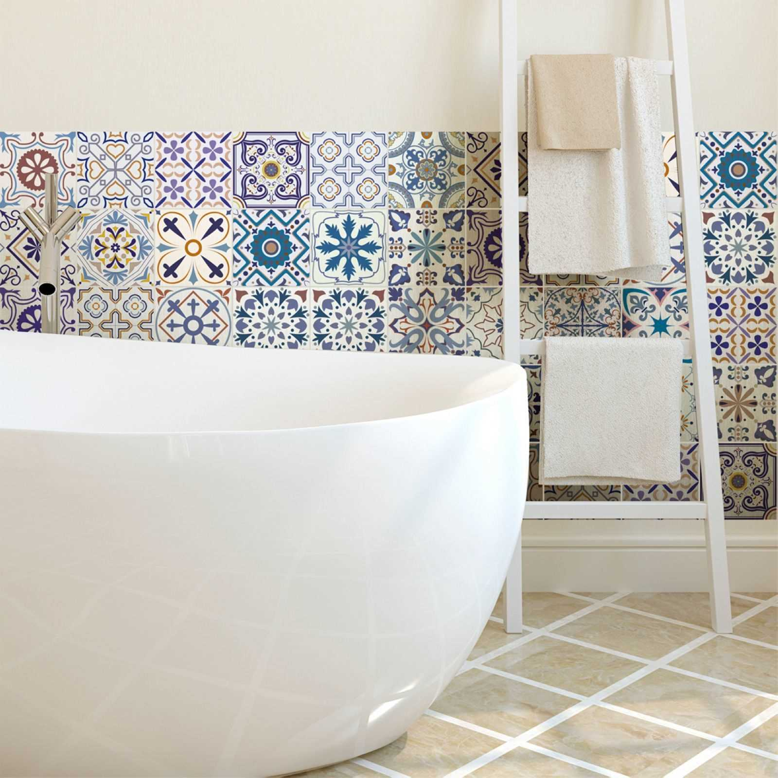 ambiance live riviera 30 stickers carrelages azulejos. Black Bedroom Furniture Sets. Home Design Ideas