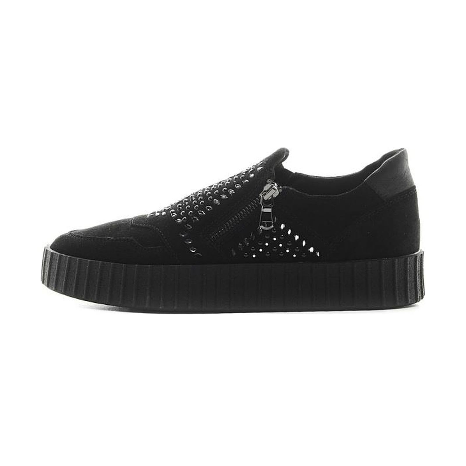 Geox Hidence Sneakers in pelle nero