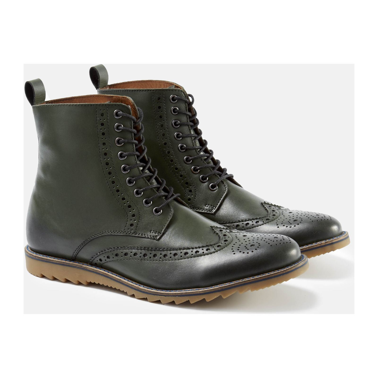 celio fyfleuri bottines en cuir vert brandalley. Black Bedroom Furniture Sets. Home Design Ideas