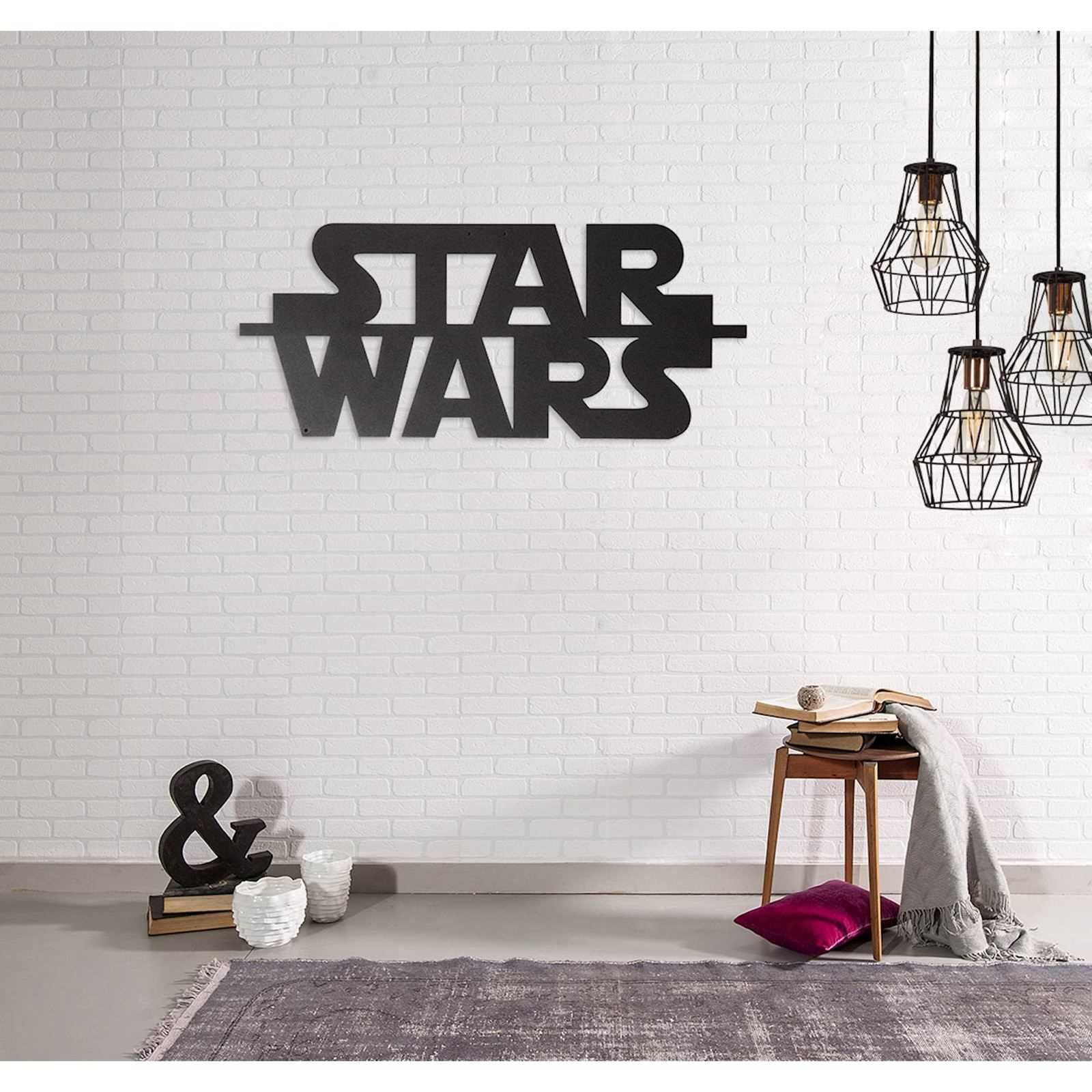 m tal d cor star wars d coration murale noir brandalley. Black Bedroom Furniture Sets. Home Design Ideas