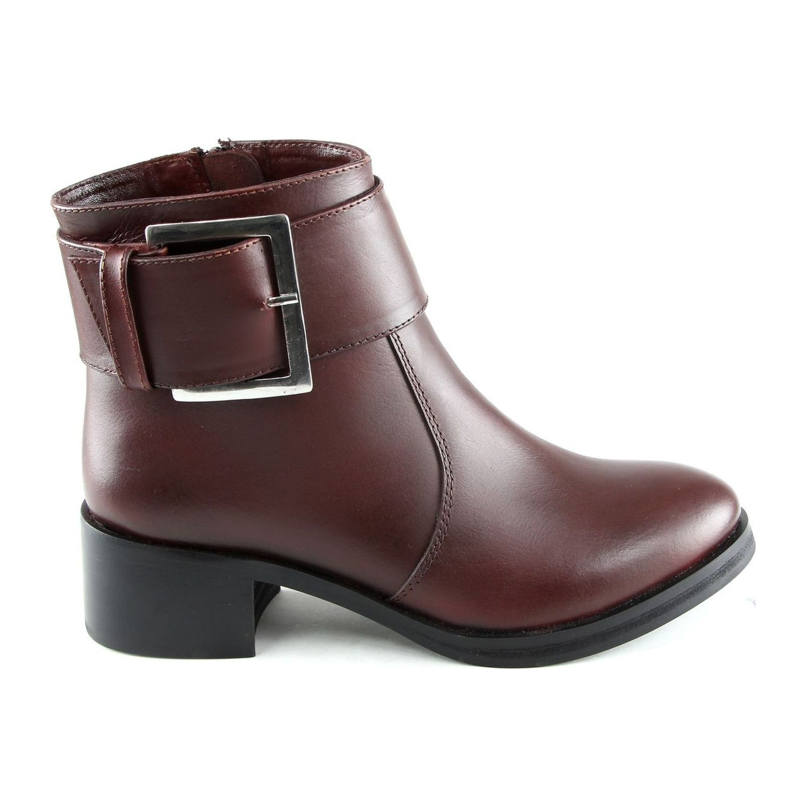 Manoukian Lola - Bottines en cuir - bordeaux
