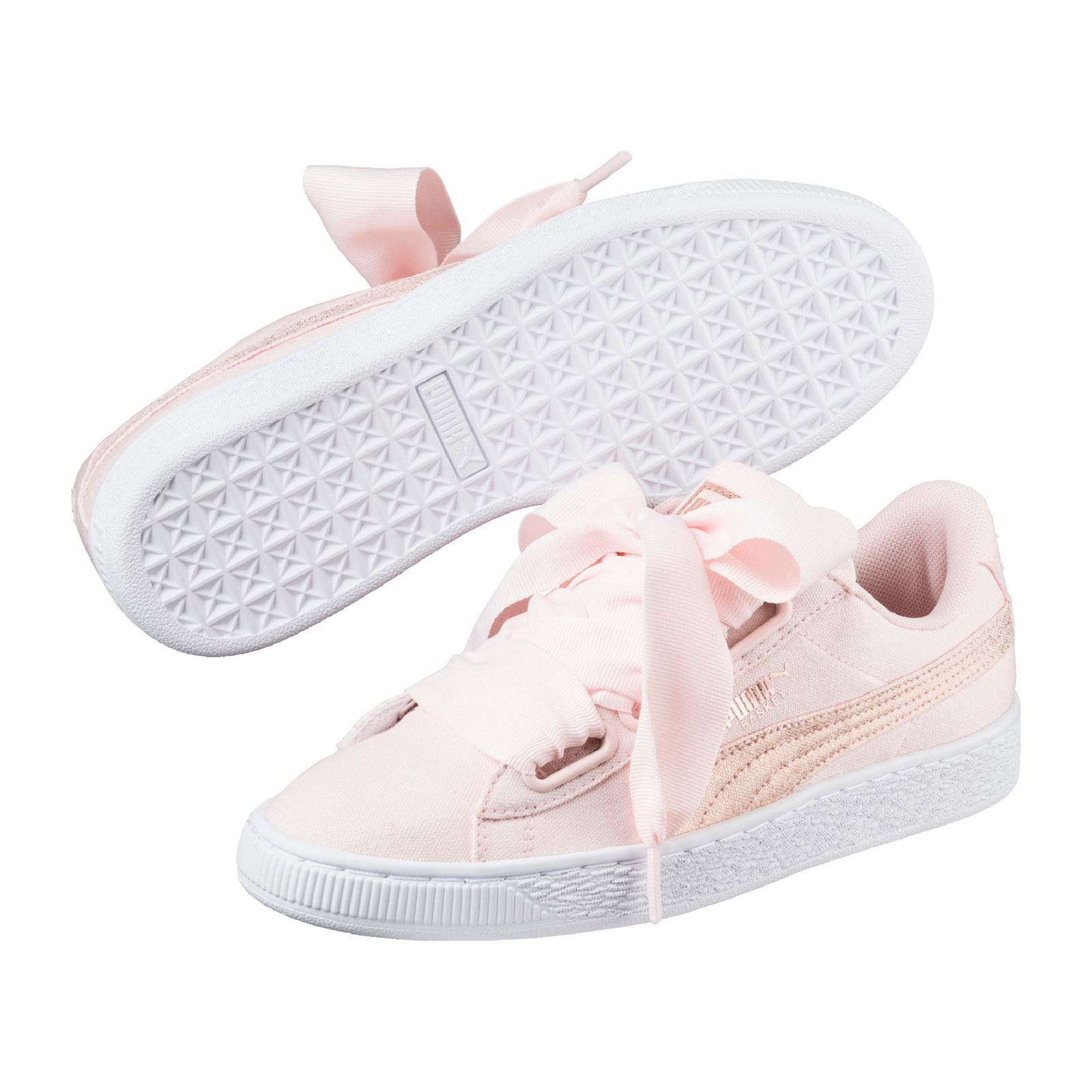 7e1c6cc6f88d Puma Heart Canvas - Baskets Mode - rose   BrandAlley