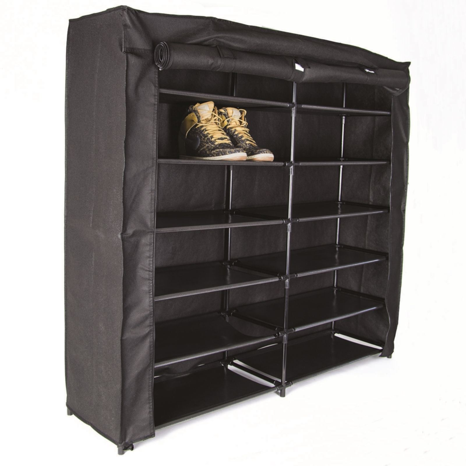 je cherche une id e armoire chaussures 36 paires noir brandalley. Black Bedroom Furniture Sets. Home Design Ideas