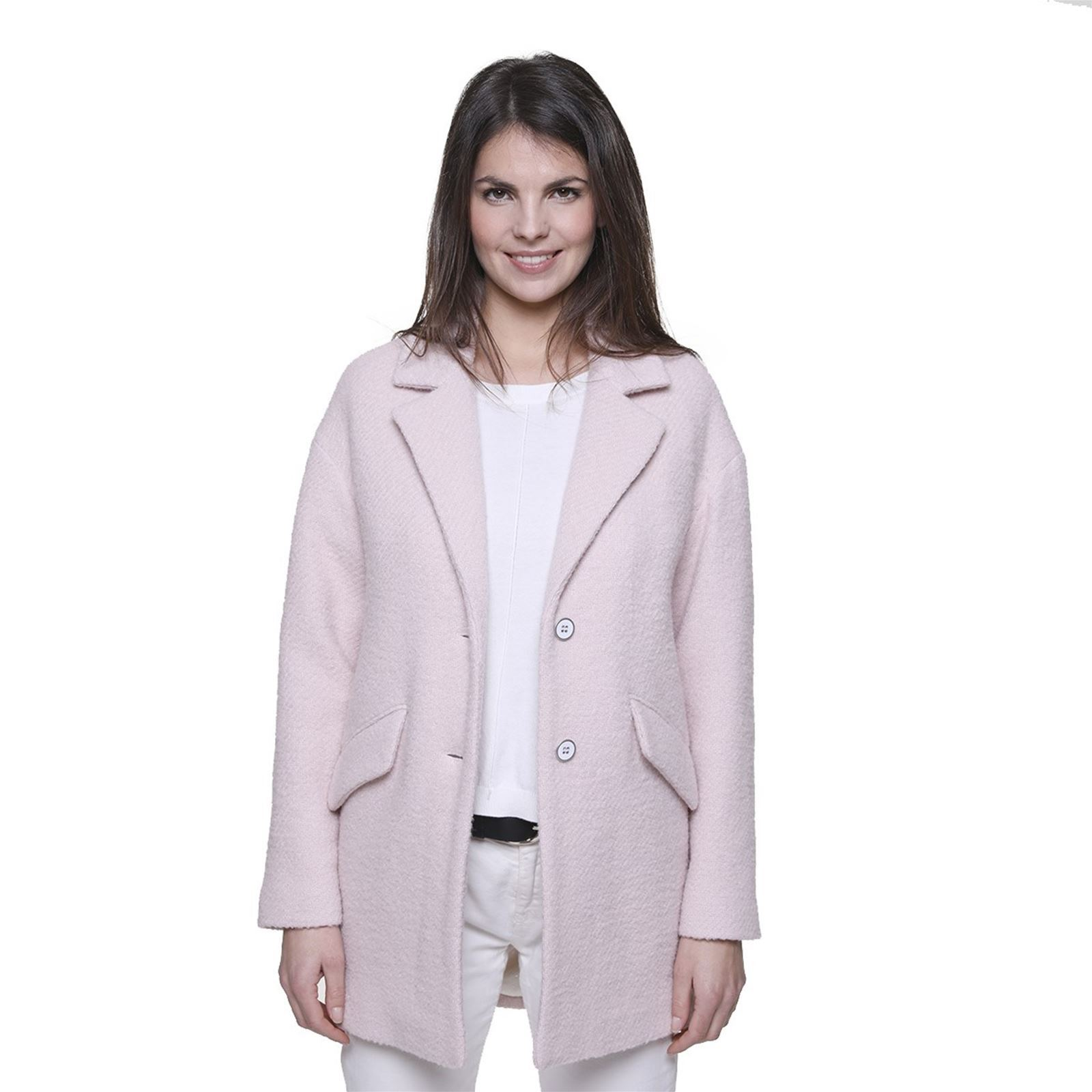 Rose Trench Manteau Coat Brandalley Bouclée Oversize And 60 Laine AAgqK0