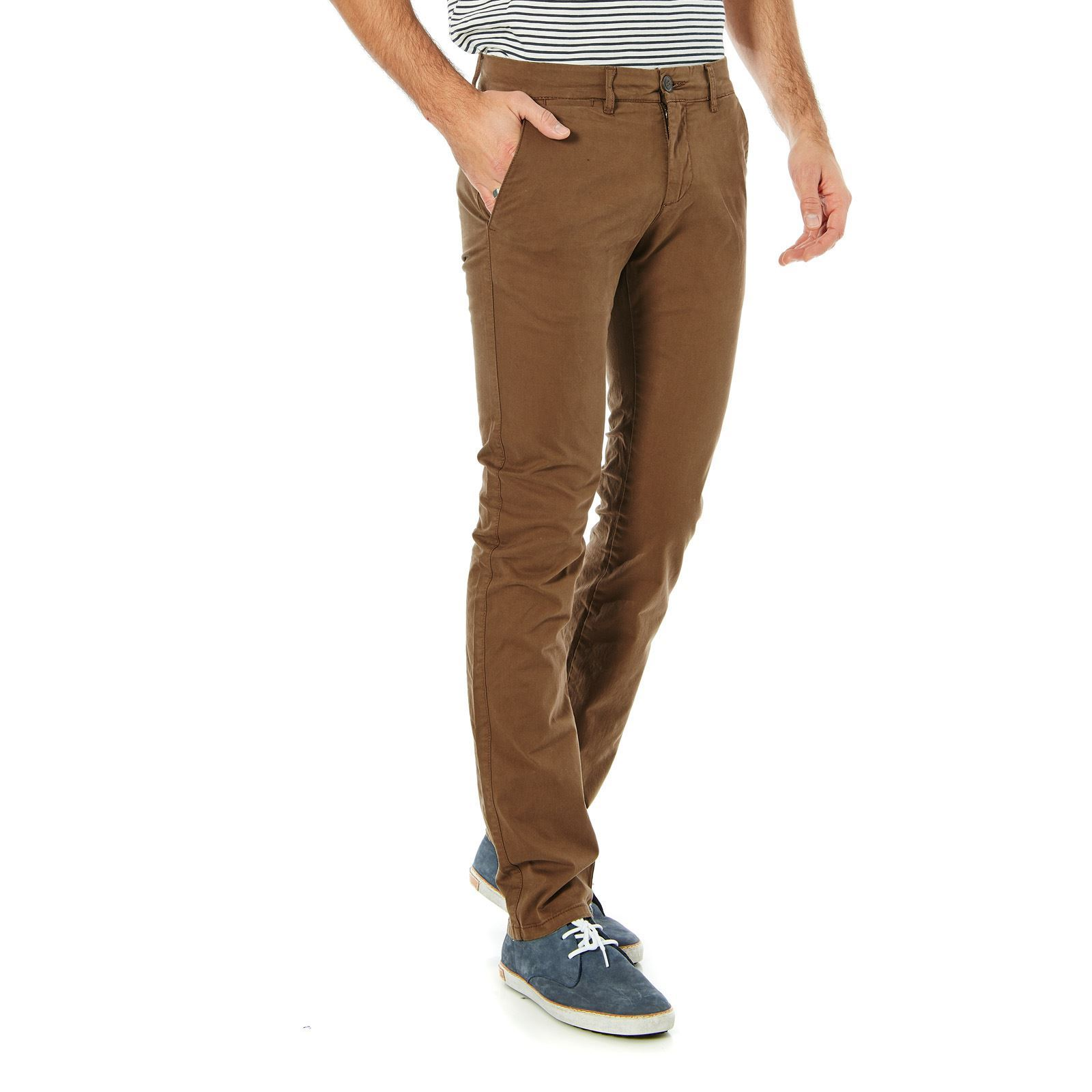 Celio Pantalon chino - marron  d2482cbd6a5