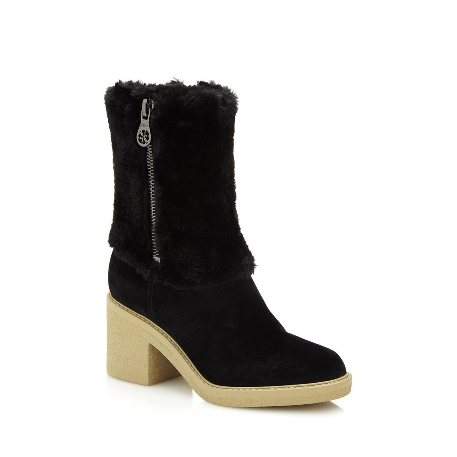 Guess Riley - Bottines en cuir - noir