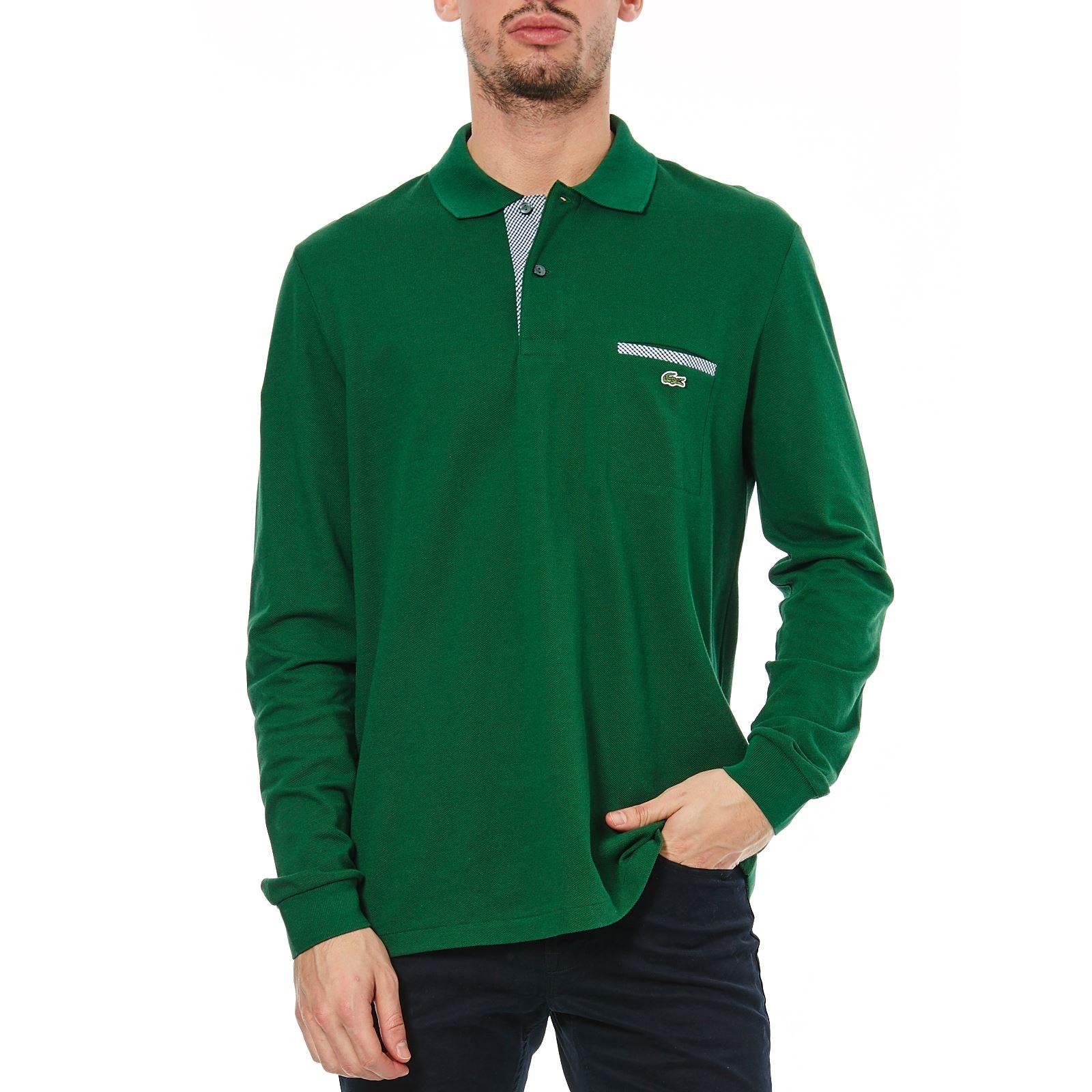 Polo Longues Manches Brandalley Lacoste Blanc FqwPxPY