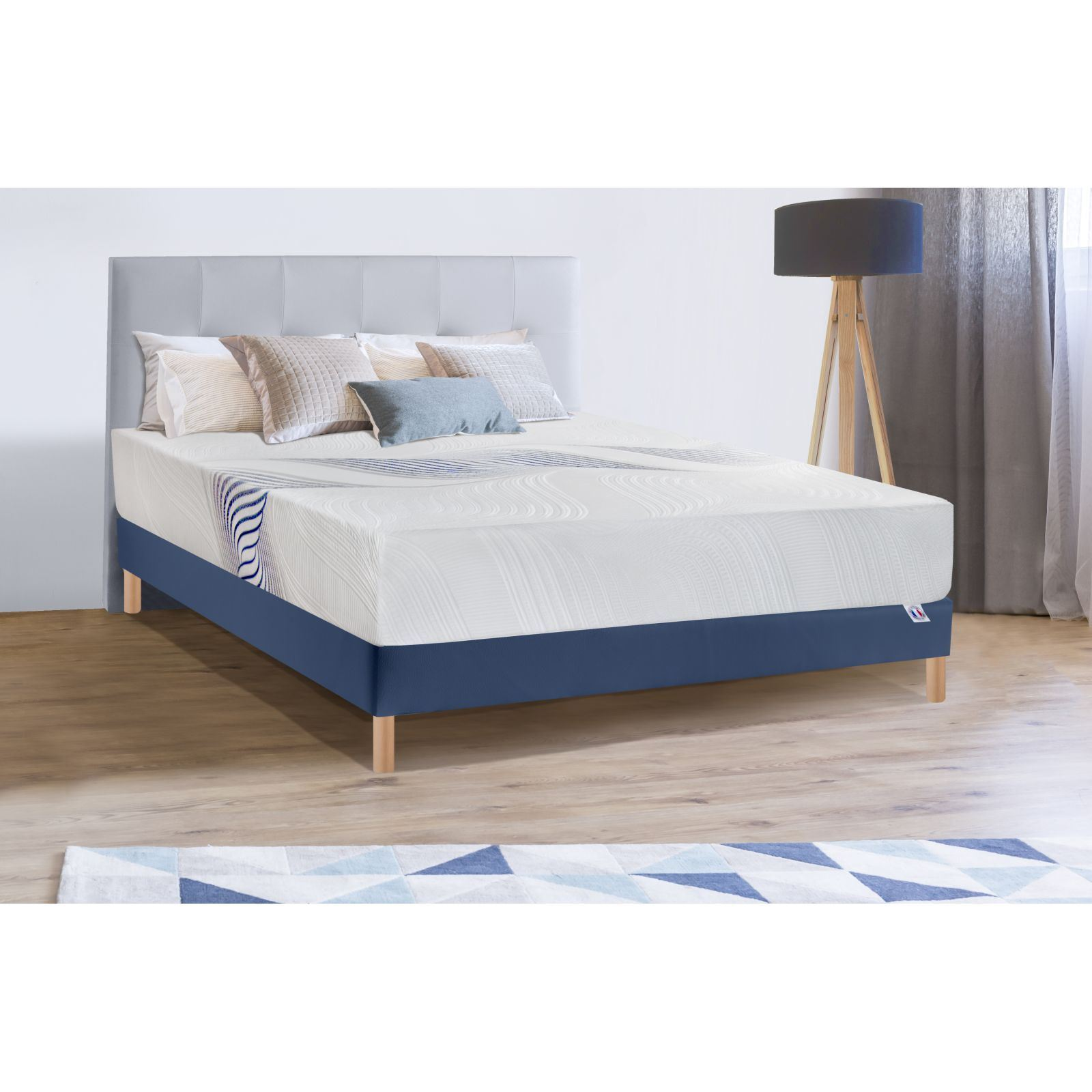 bellecour ouranos ensemble matelas sommier blanc brandalley. Black Bedroom Furniture Sets. Home Design Ideas