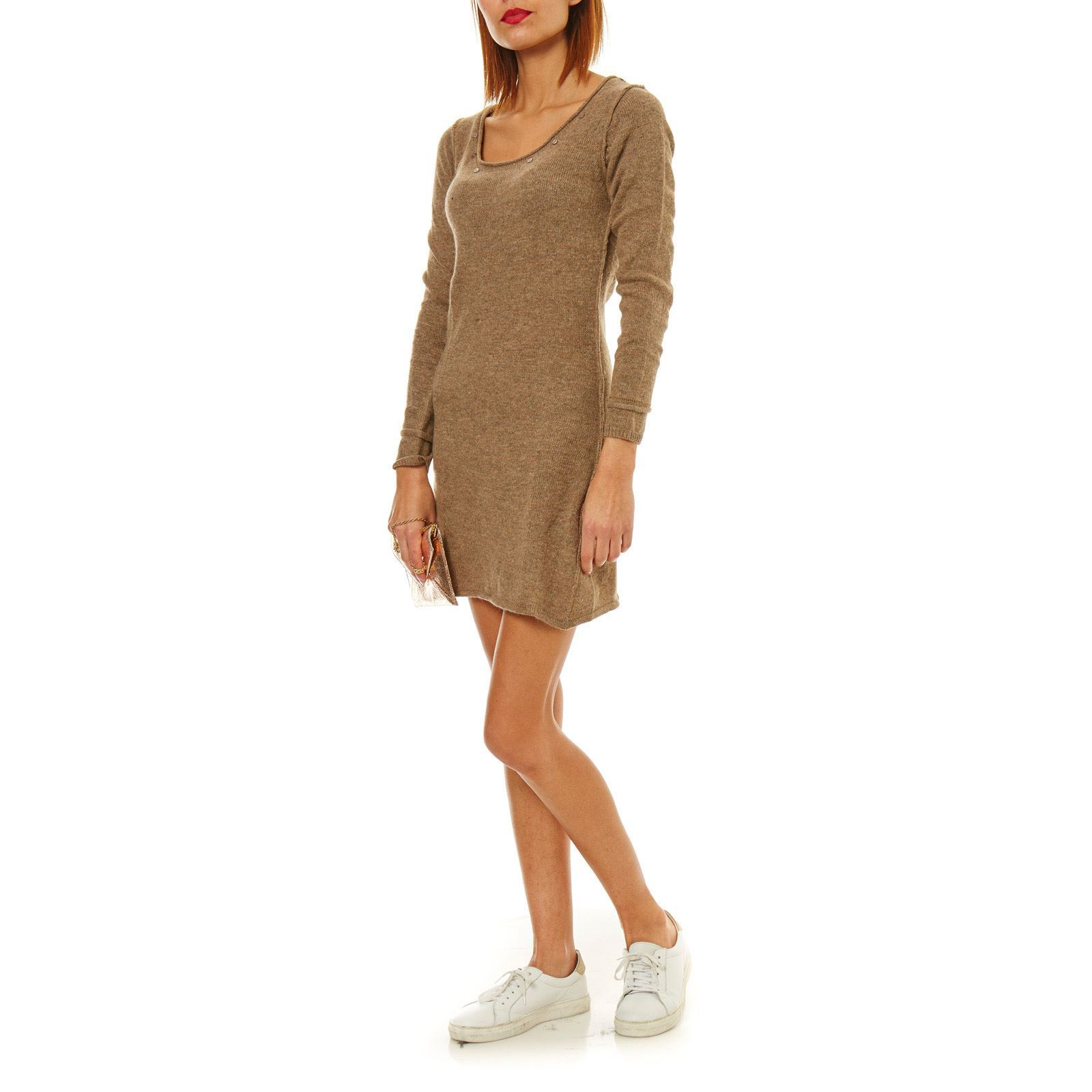 5696a5e856d85 Maille Love Robe pull 15% laine