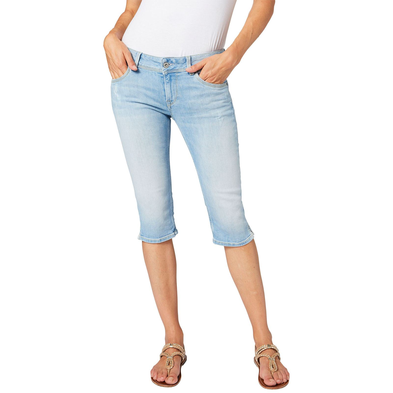 Pepe Jeans London Saturn crop - Bermuda - denim bleu