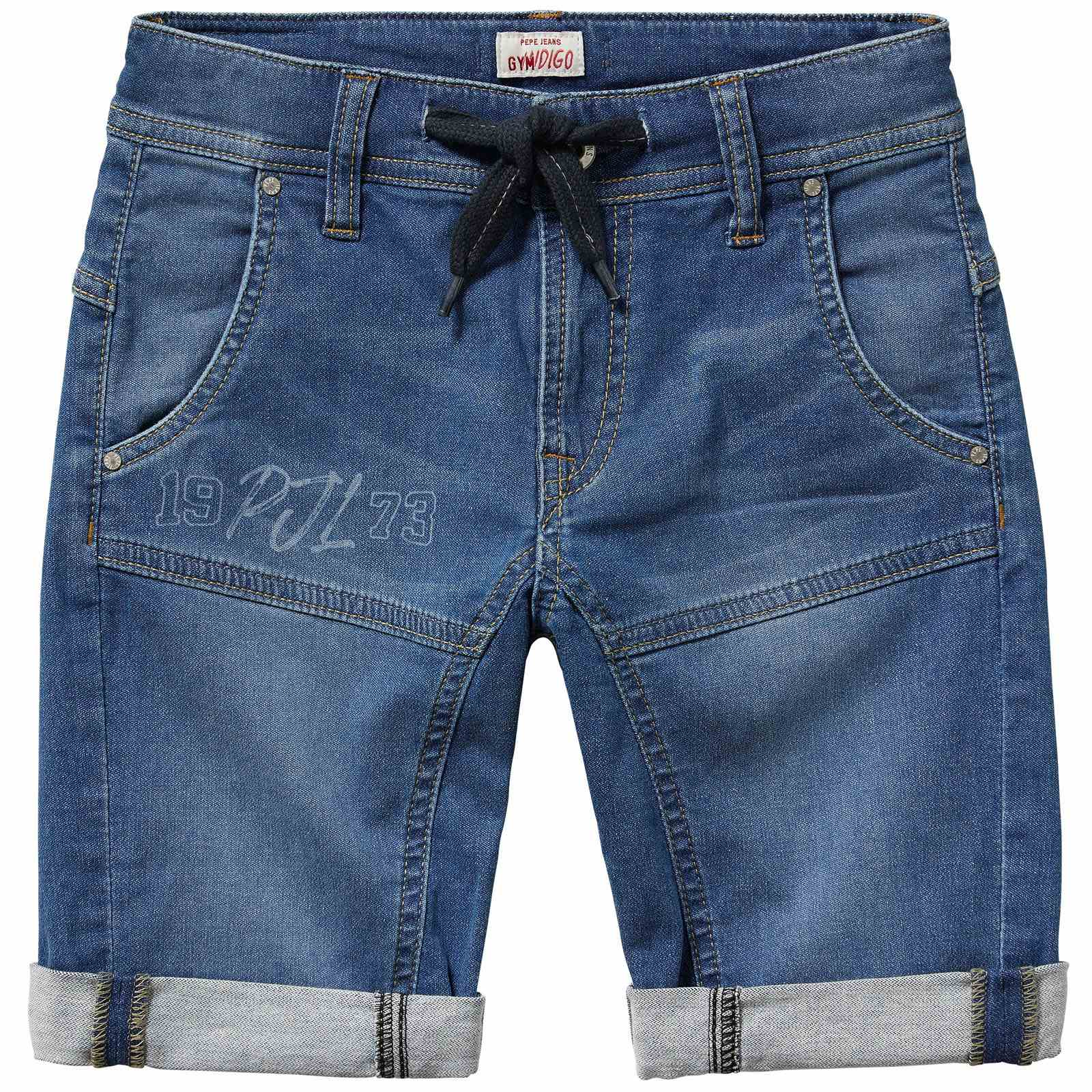 Pepe Jeans London Snippet runner short - Bermuda - denim bleu