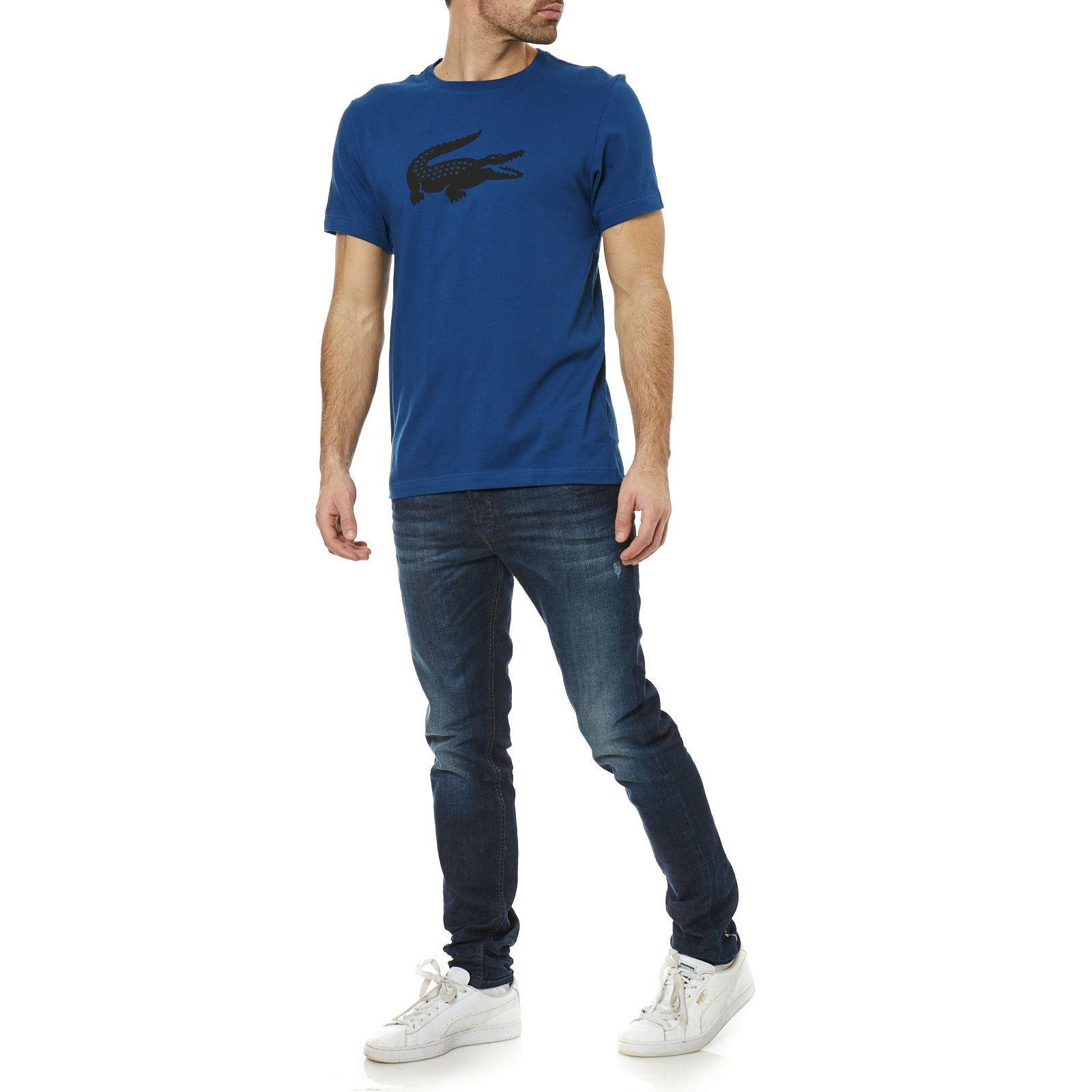 lacoste sport t shirt manches courtes bleu brandalley. Black Bedroom Furniture Sets. Home Design Ideas