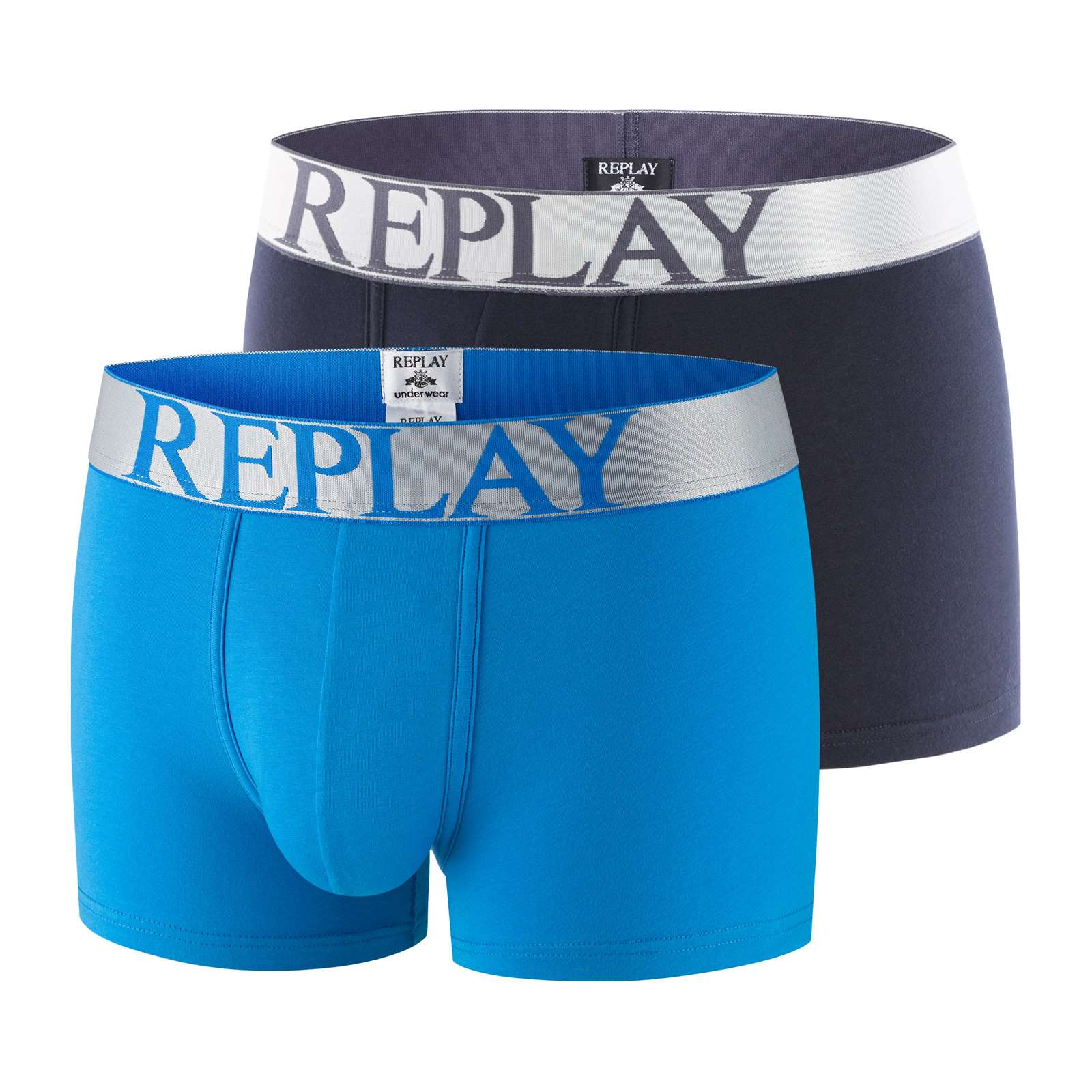 Replay Lot de 2 boxers - bleu