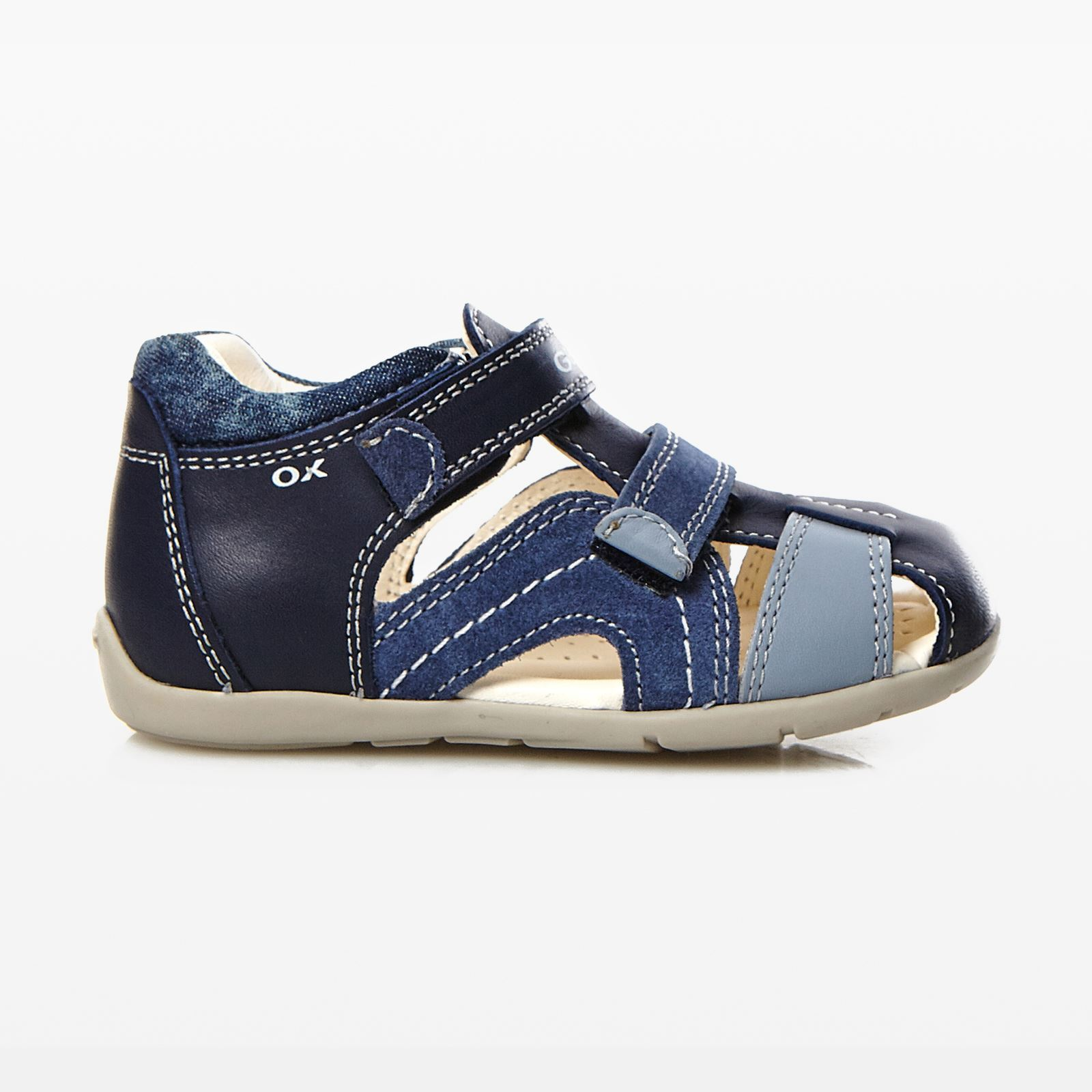 Chaussures à scratch Geox Kaytan beiges Casual fille 5vCuXYGs