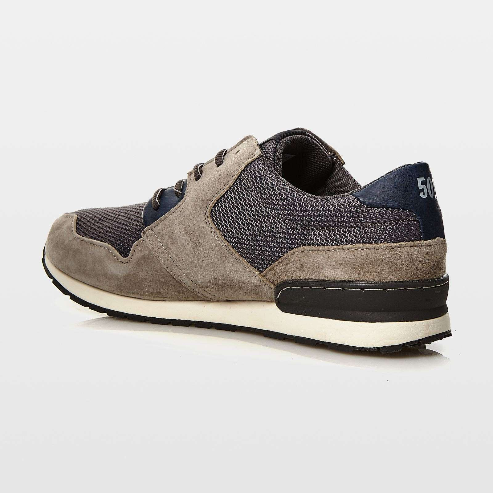 Levi's NY Runner II - Baskets empiècements en cuir - gris  Baskets