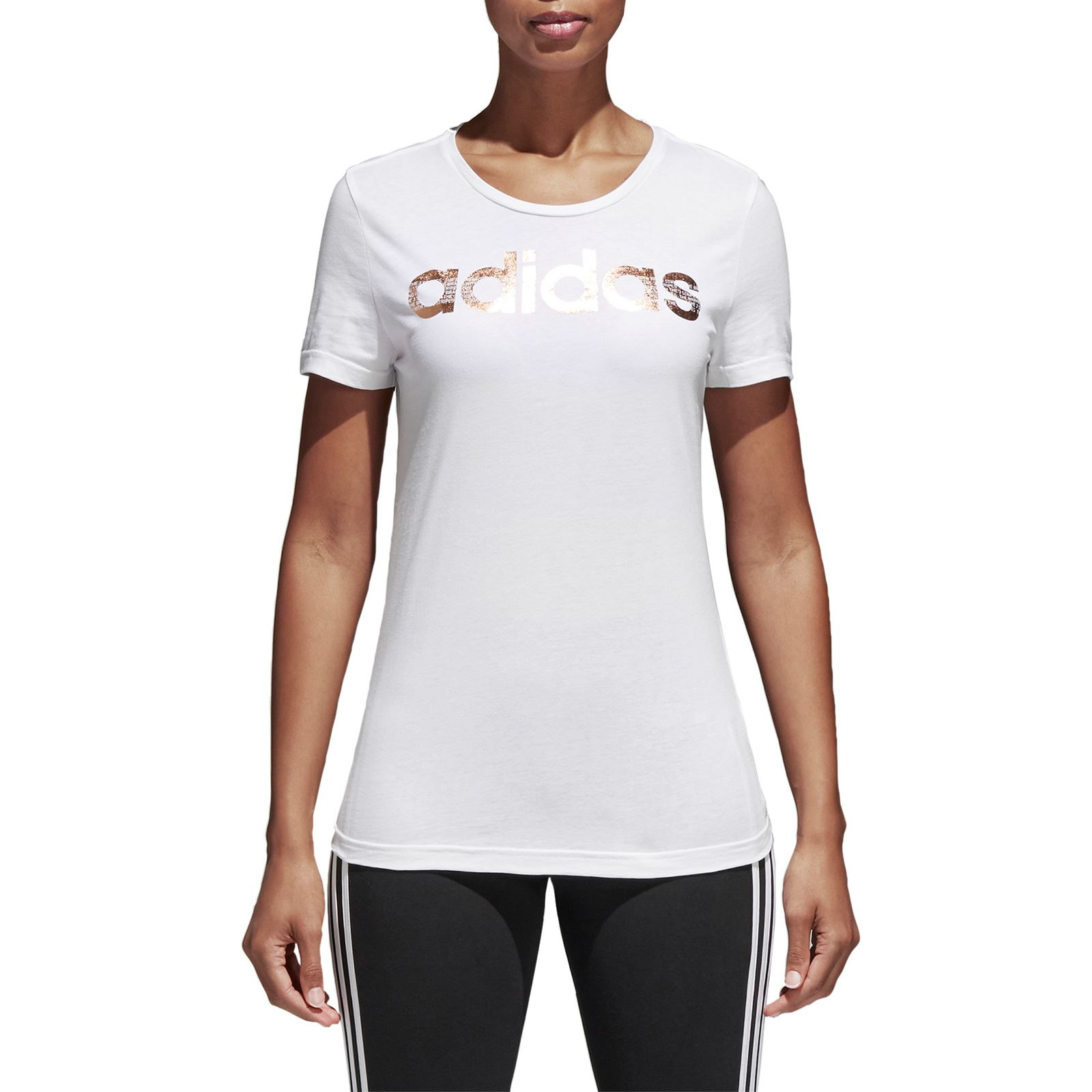 Adidas Performance Foil Linear - T-shirt manches courtes - blanc