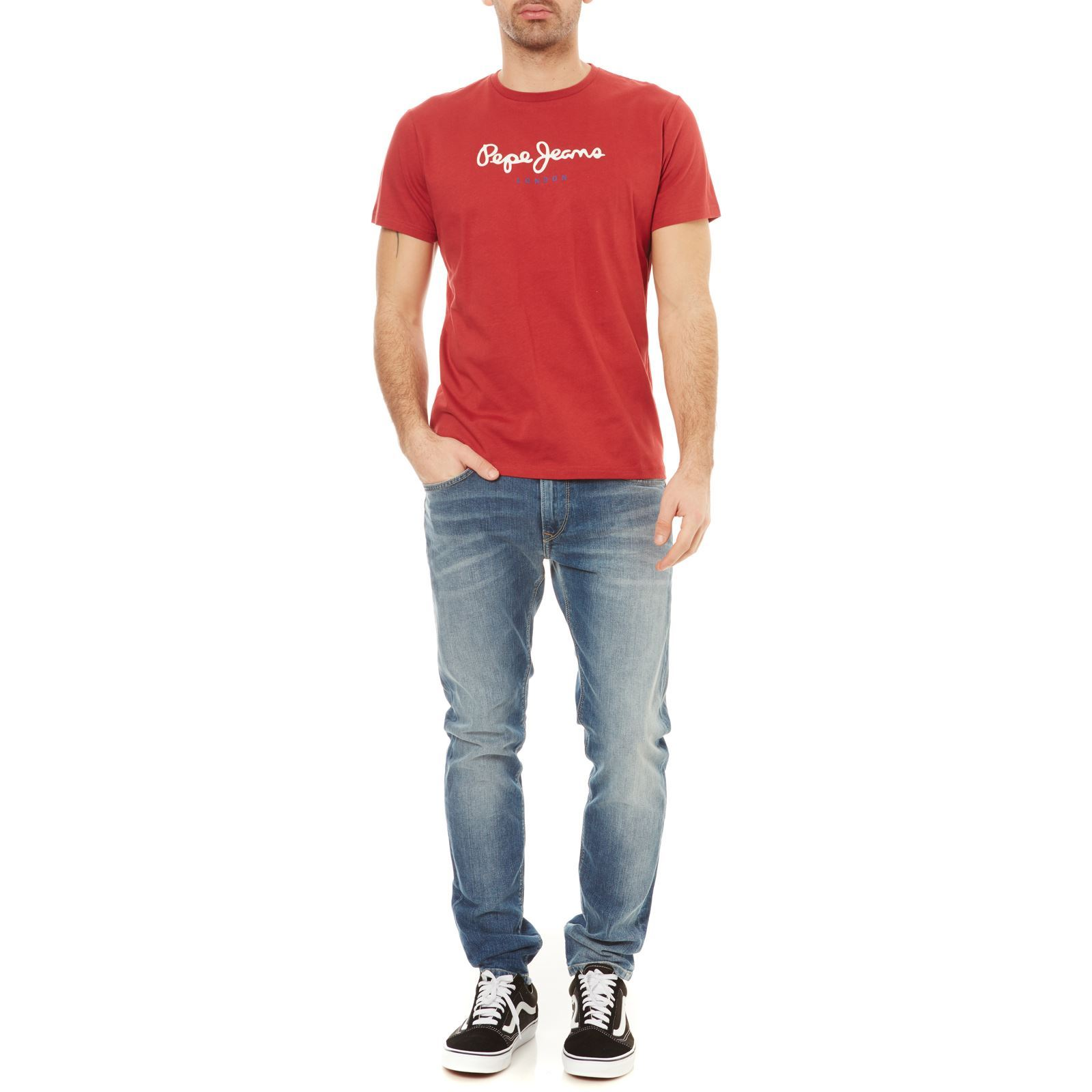 Eggo Courtes Manches London shirt T Pepe Rouge Jeans EBPqvv