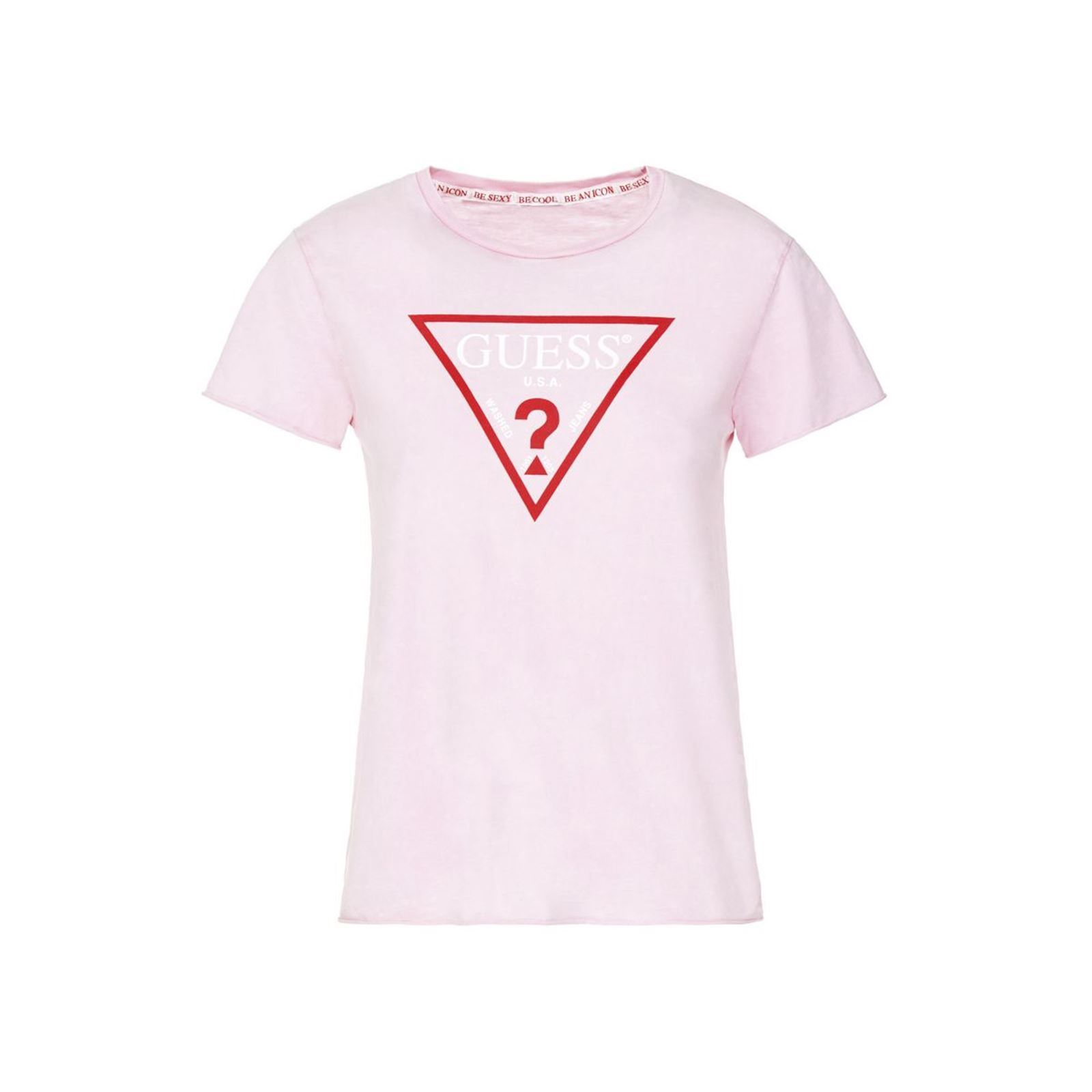 Brandalley Logo Shirt T Rose Triangle Guess w4ZPgXxW 4944554be26
