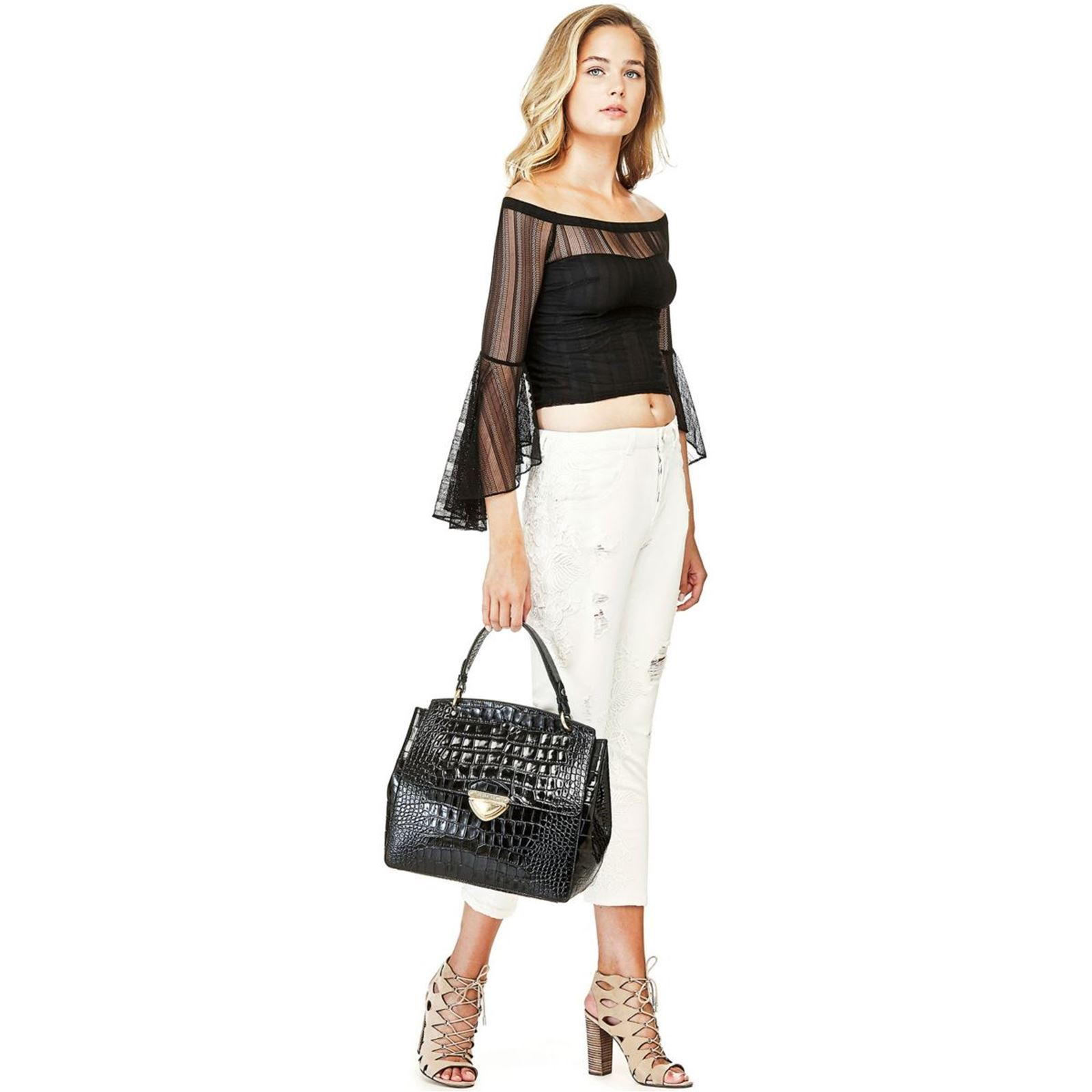 Guess Mandy Sac Cuir NoirBrandalley Main À En 1clJTFK3