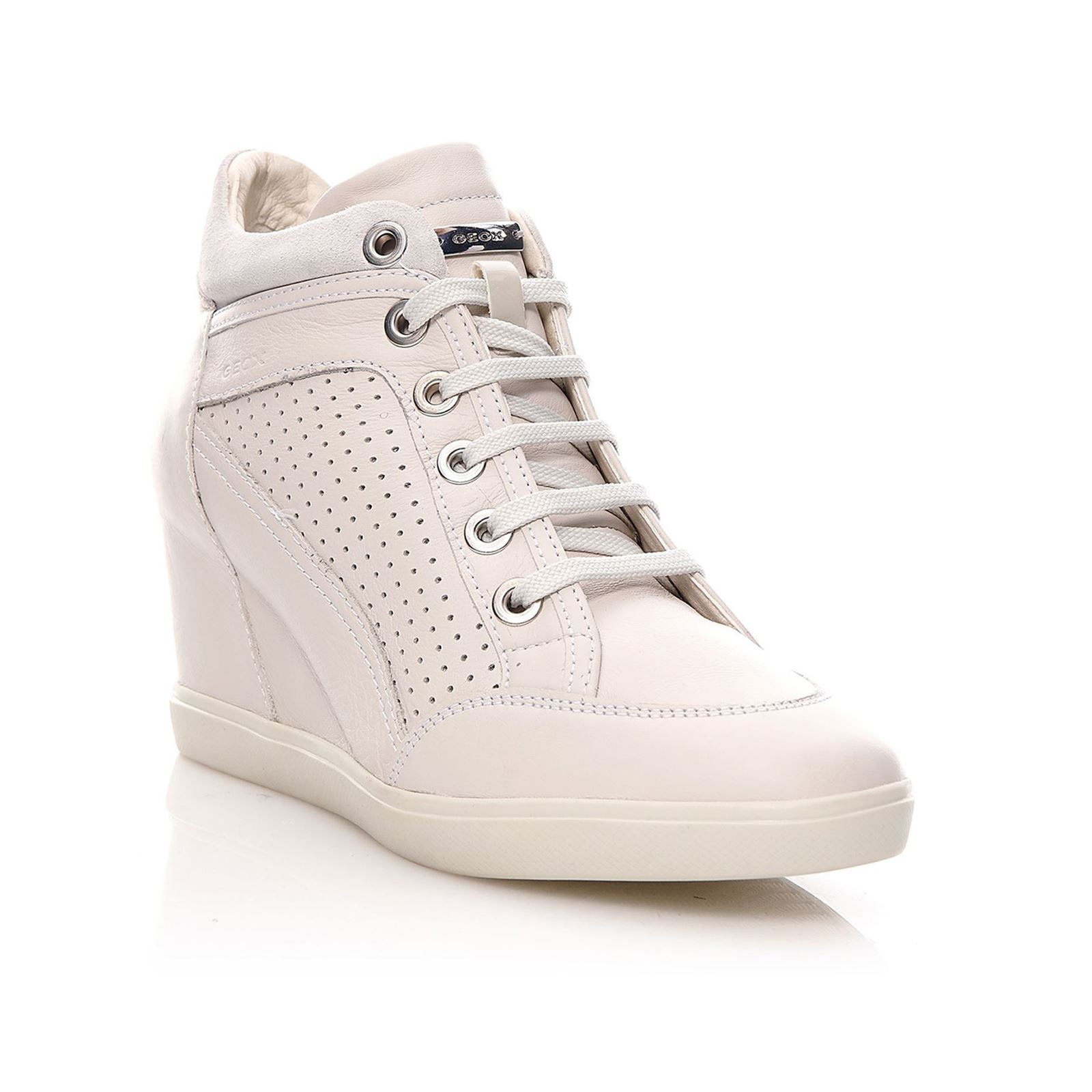 Geox Eleni Sneakers in pelle bianco - mainstreetblytheville.org 14d10ca2354