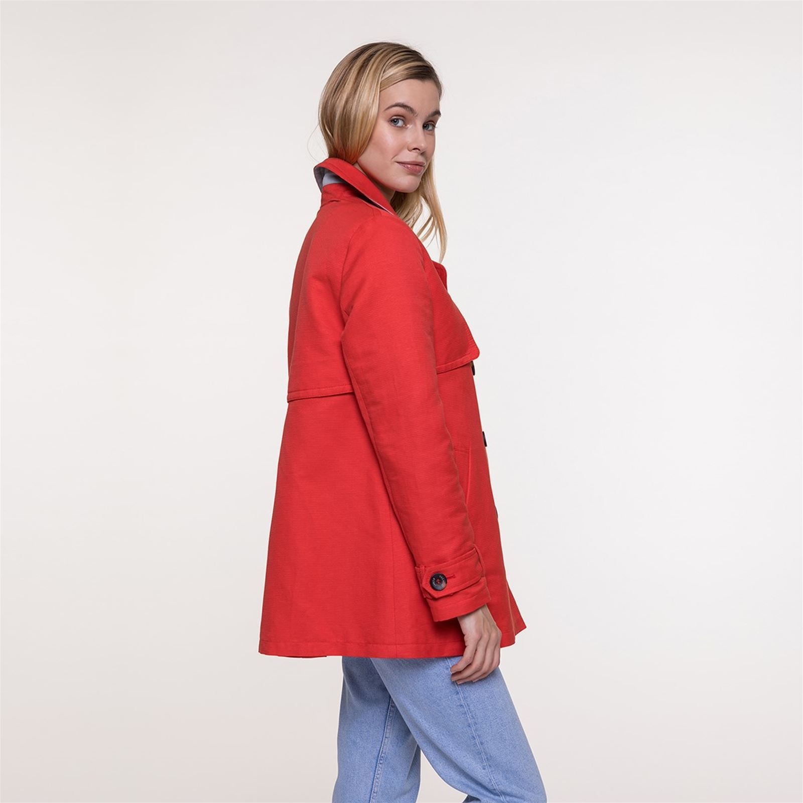 Natté En Caban Trench And Coton Coat Rouge ZqtXWwEXa