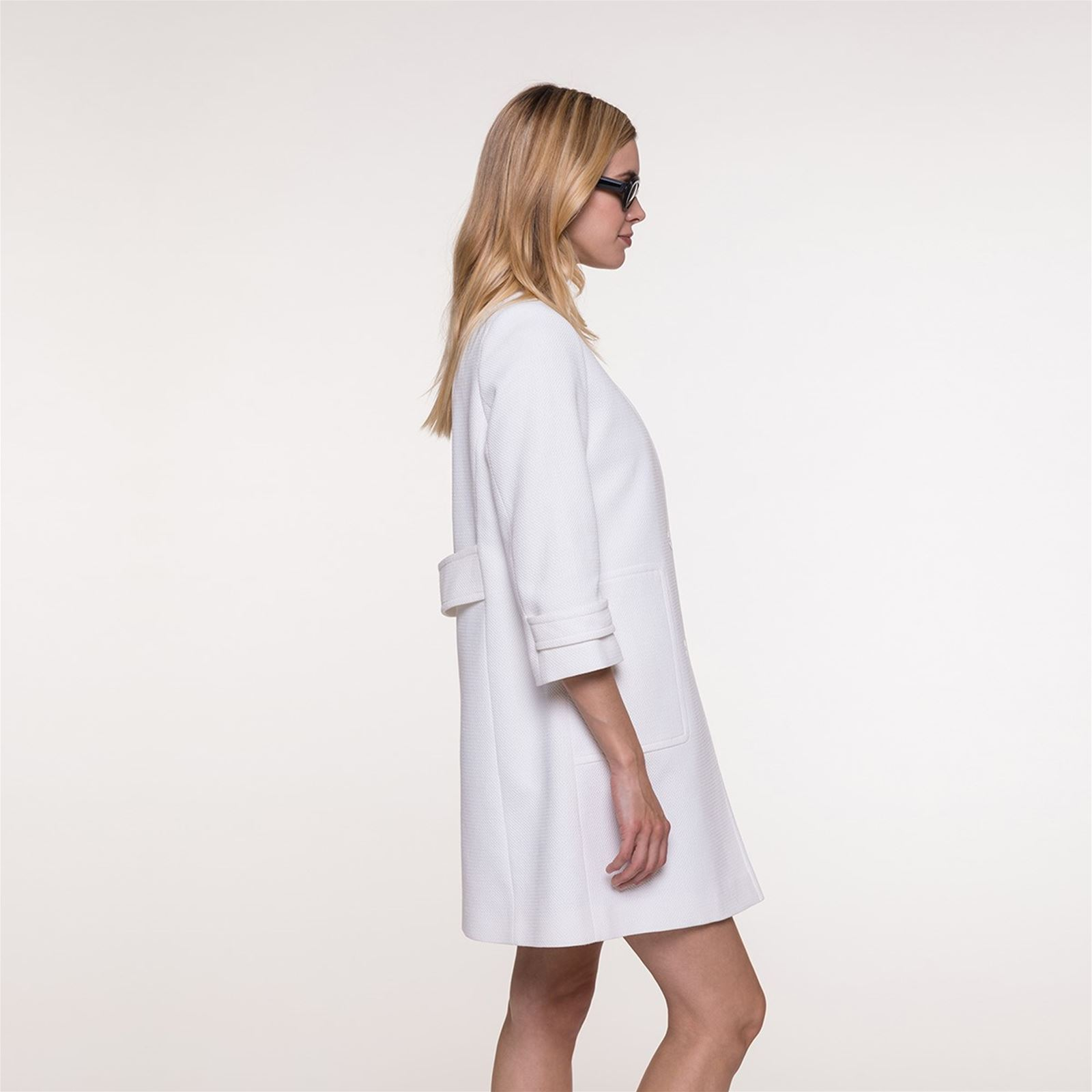 Coton Brandalley Blanc De Coat En Col Trench Sans Piqué And Manteau 6PvqP8A