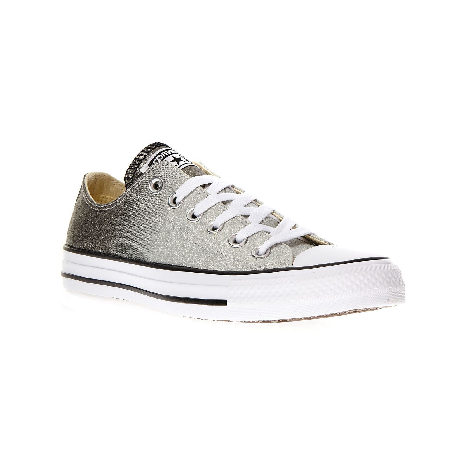 Converse Chuck Taylor All Star Tipped Ombre Metallic Ox - Baskets - argent  Baskets