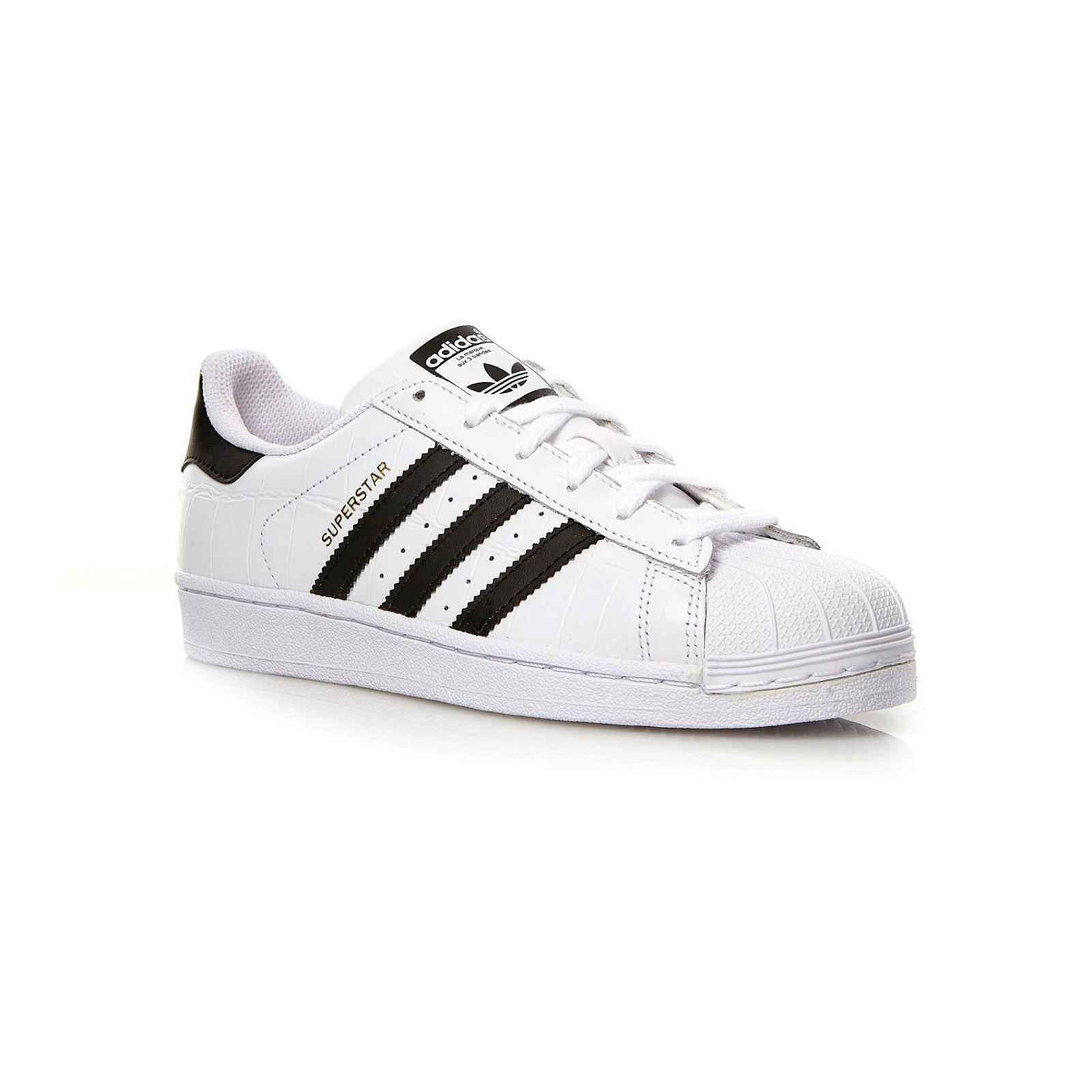 adidas Originals Superstar - Baskets cuir bi-matière - blanc ... 0daa2d5f4c4