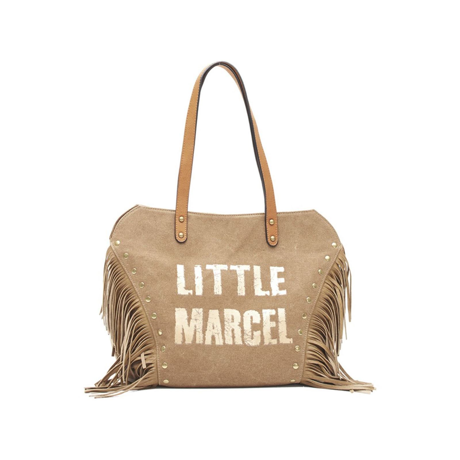 Little Marcel Victoire - Sac à main à franges - beige