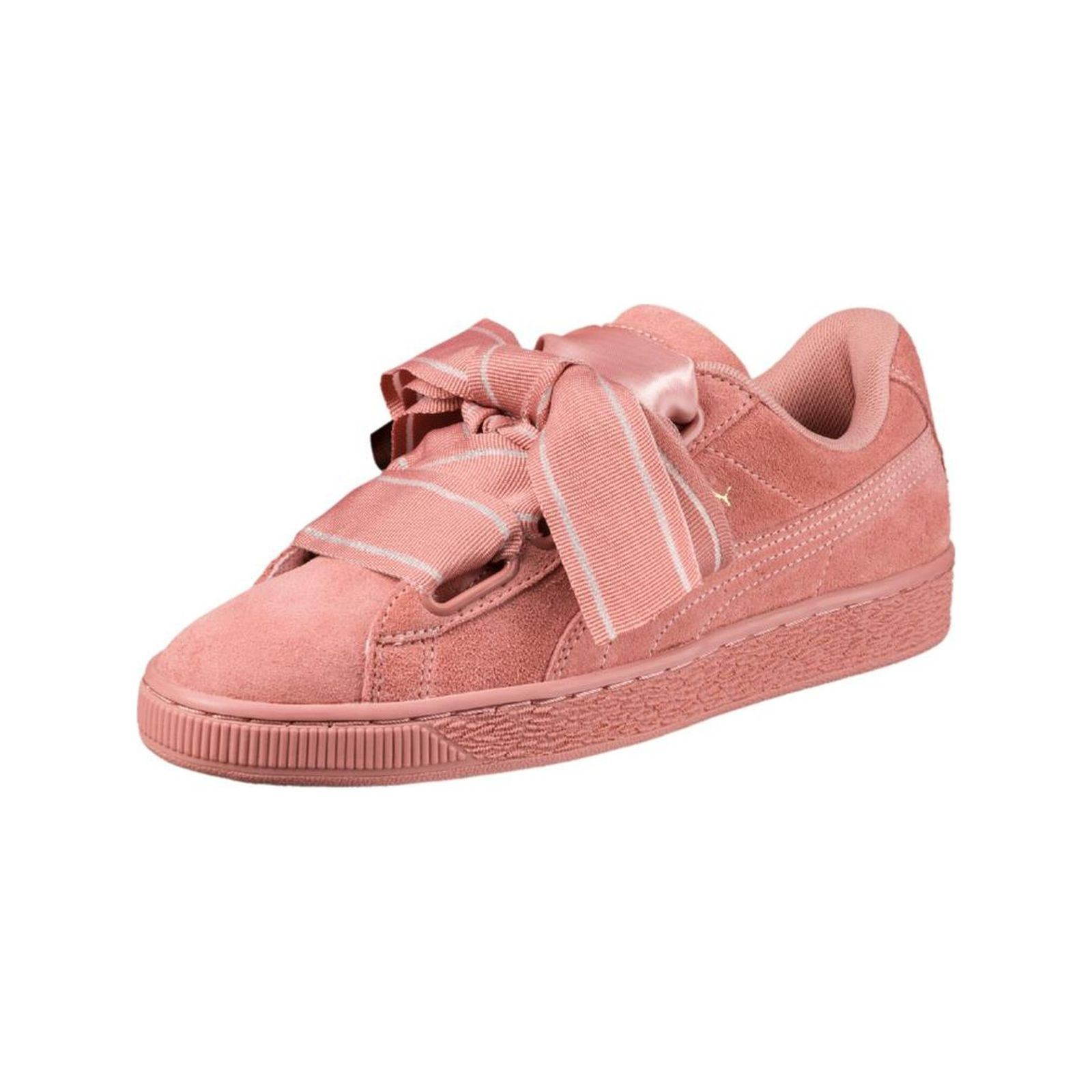 9f97d094efc5e8 Puma Heart satin ll - Baskets en cuir - rose Baskets GH8HUA1Z -  destrainspourtous.fr