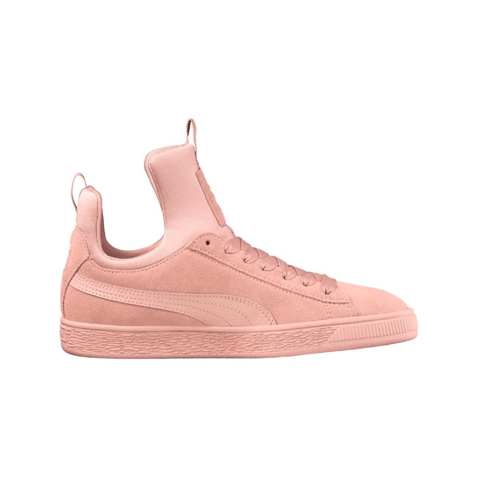 2062fe03af4 Puma Suede Fierce - Baskets montantesen cuir - rose