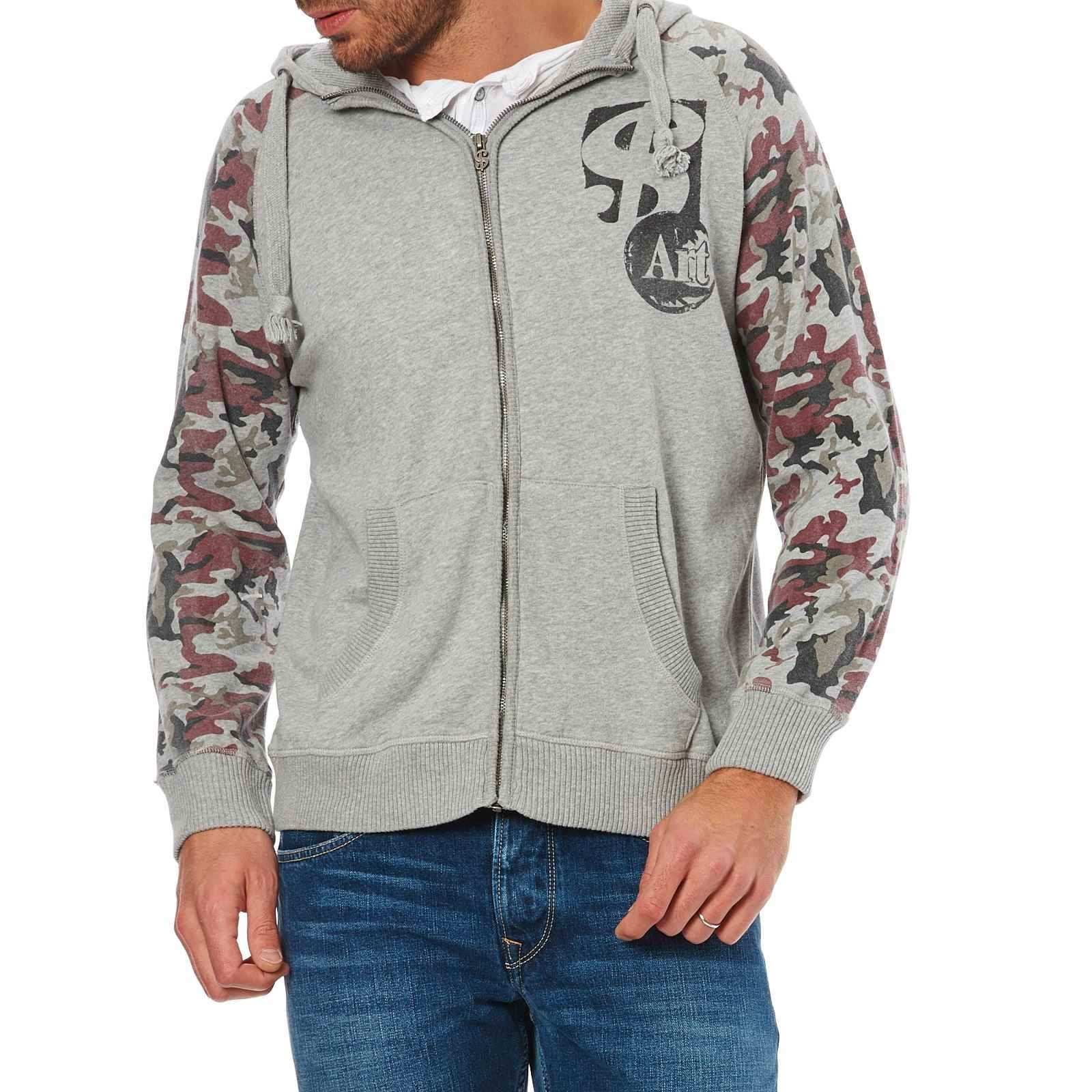 Camouflage Zippé Pepe Sweat Jeans Central Gris London Imprimé nwUwYTRxPq