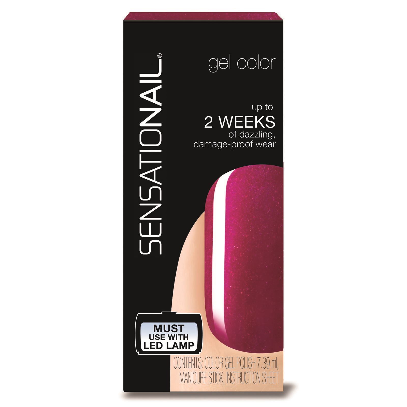 sensationail raspberry wine vernis semi permanent 7 39 ml brandalley. Black Bedroom Furniture Sets. Home Design Ideas